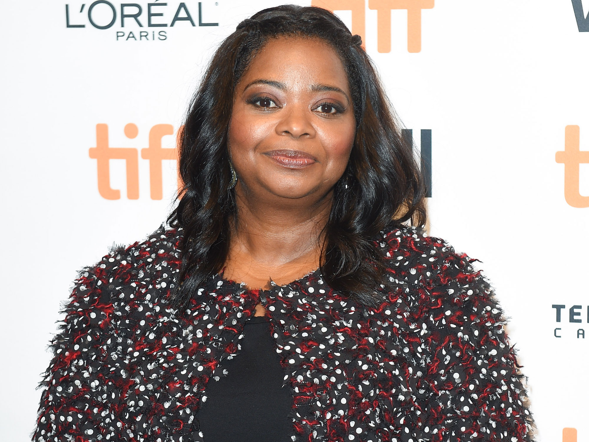 TORONTO, ON - SEPTEMBER 10: Actress Octavia Spencer attends the 'Hidden Figures' premiere during the 2016 Toronto International Film Festival at TIFF Bell Lightbox on September 10, 2016 in Toronto, Canada. (Photo by Ernesto Di Stefano Photography/Getty Images)