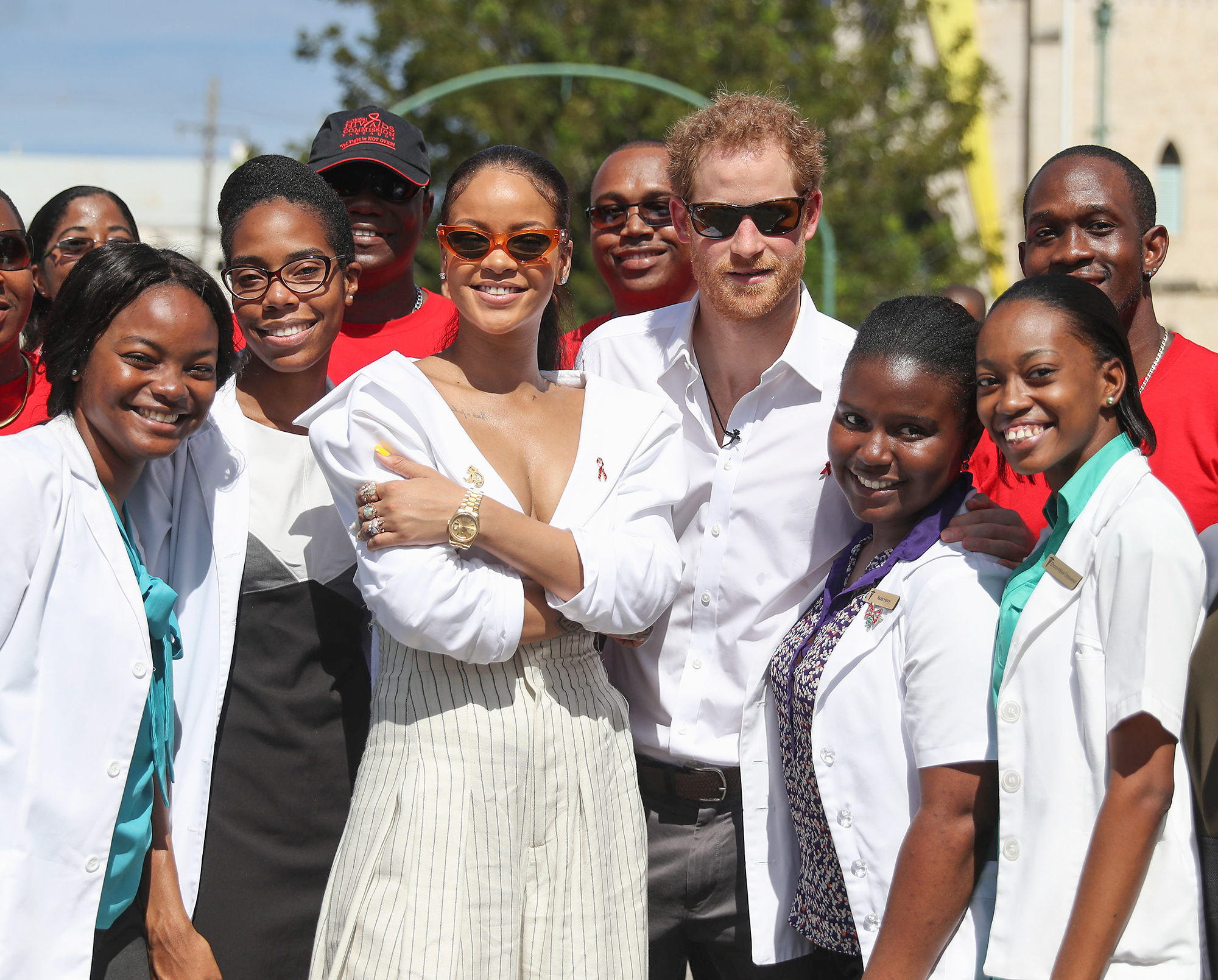 Rihanna and Prince Harry Attend Man Aware Event in Barbados