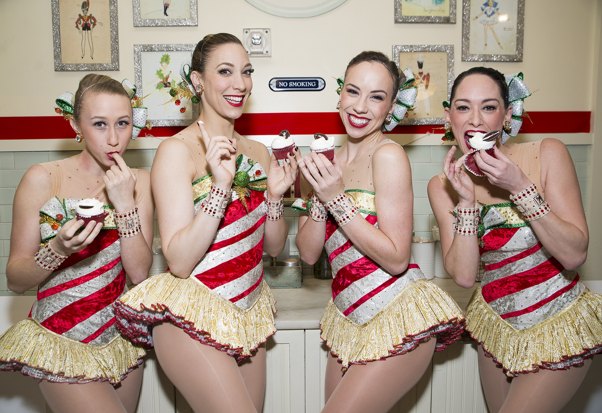 The Rockettes And Magnolia Bakery Unveil The Rockette Red Velvet Cupcake