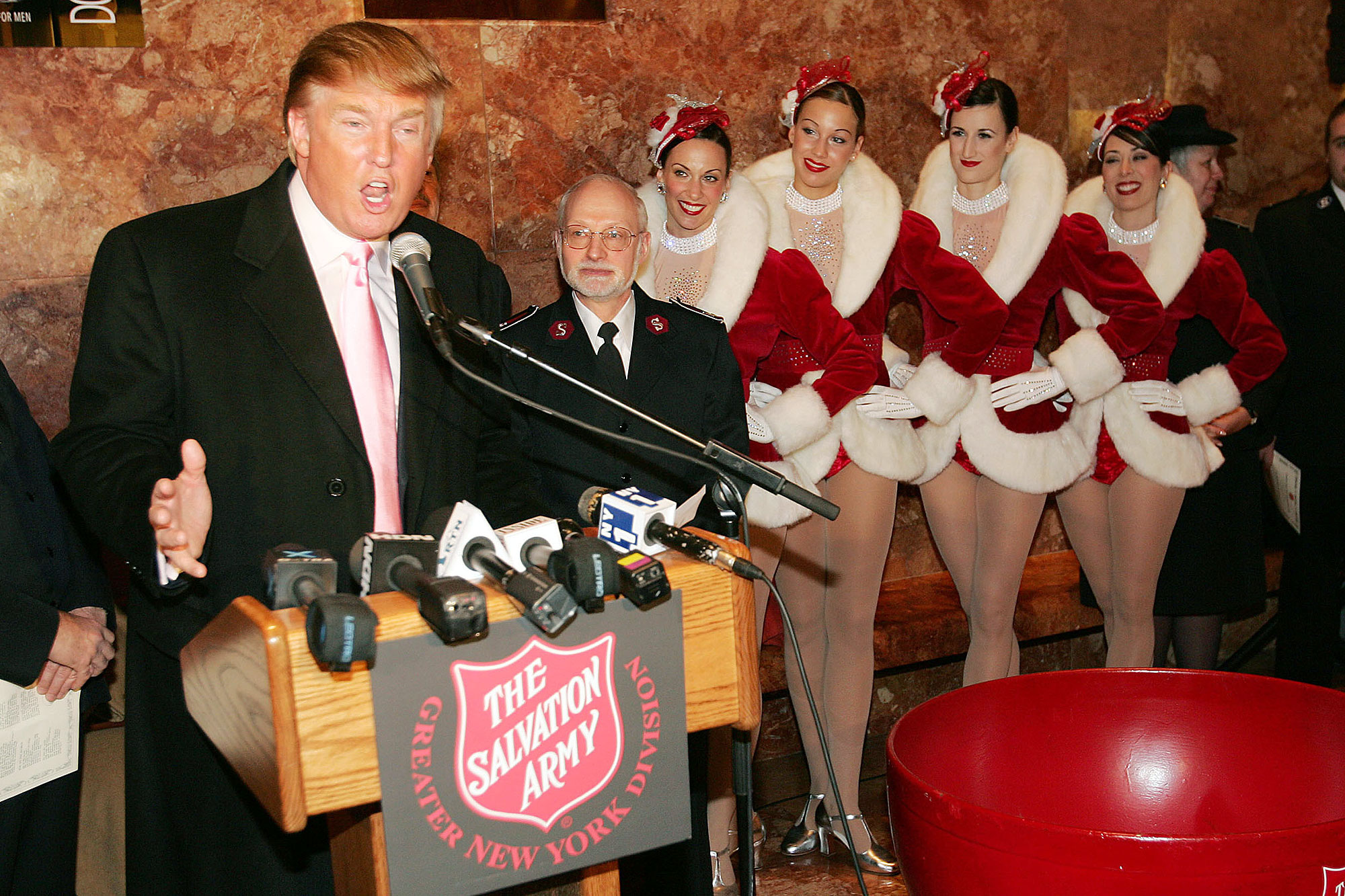Donald Trump Helps The Salvation Army Kick Off Its Annual Christmas Kettle