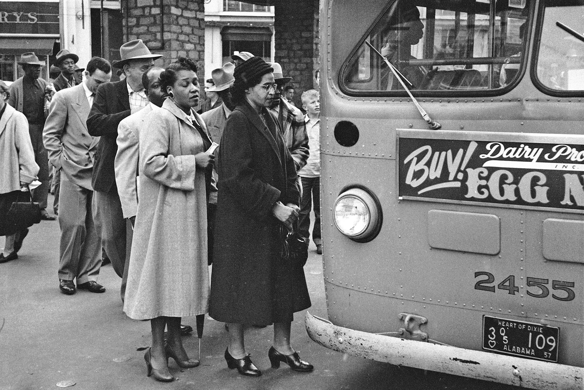 Rosa Parks Boards A Bus