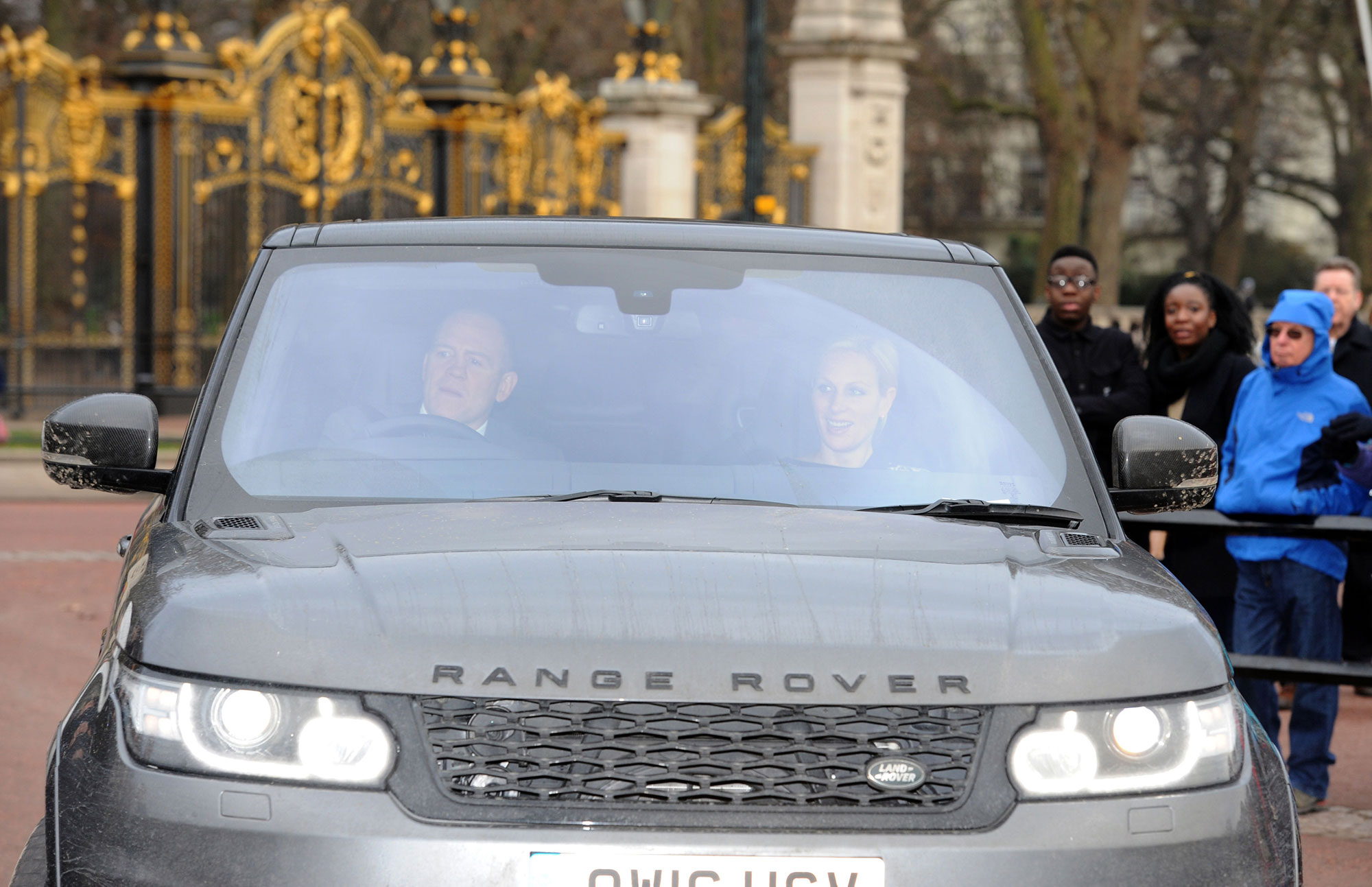 Zara and Mike Tindall arriving for the Queen's Christmas lunch at Buckingham Palace, London. (Photo by Nick Ansell/PA Images via Getty Images)