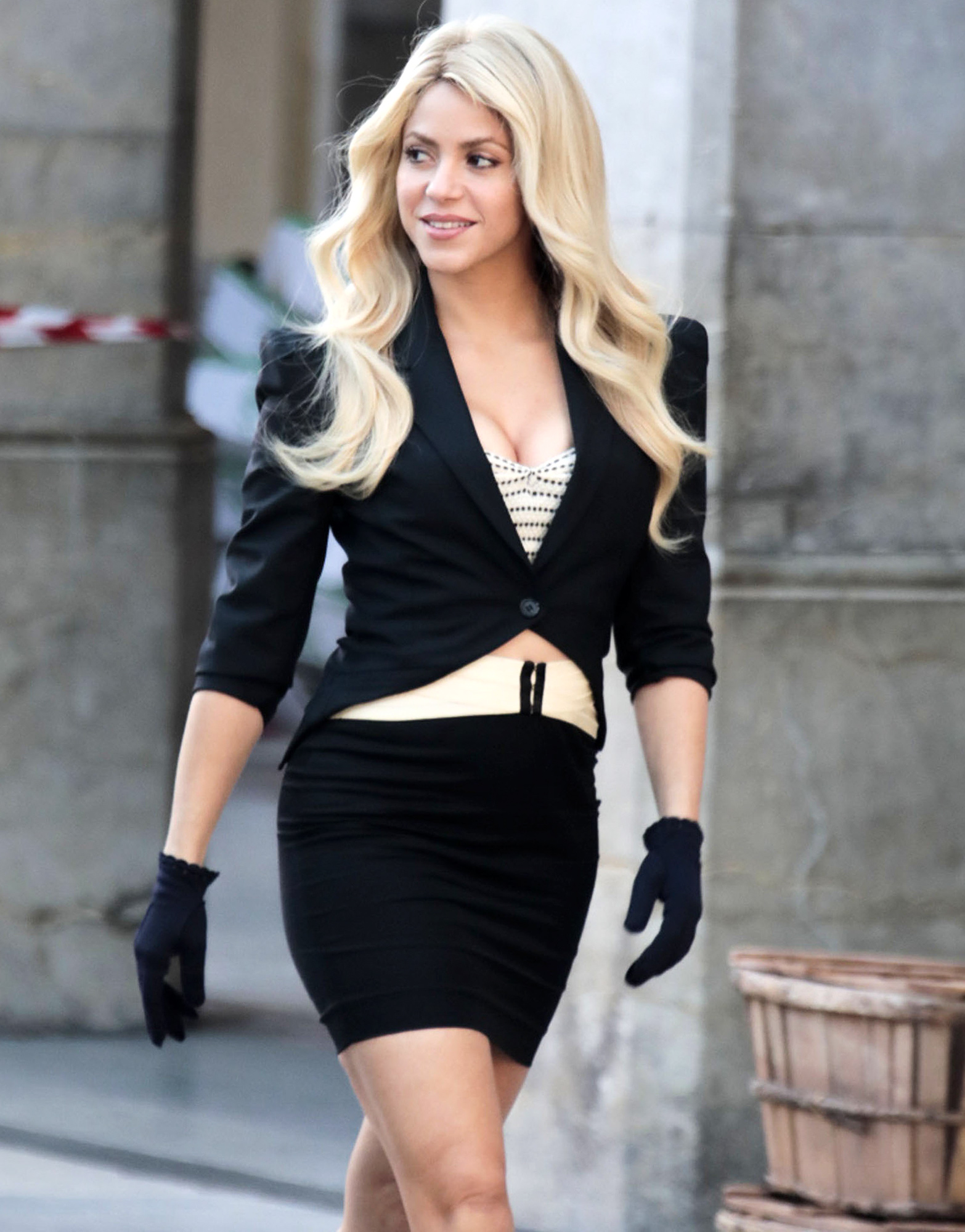 Shakira On The Set Of A Commerical In Barcelona