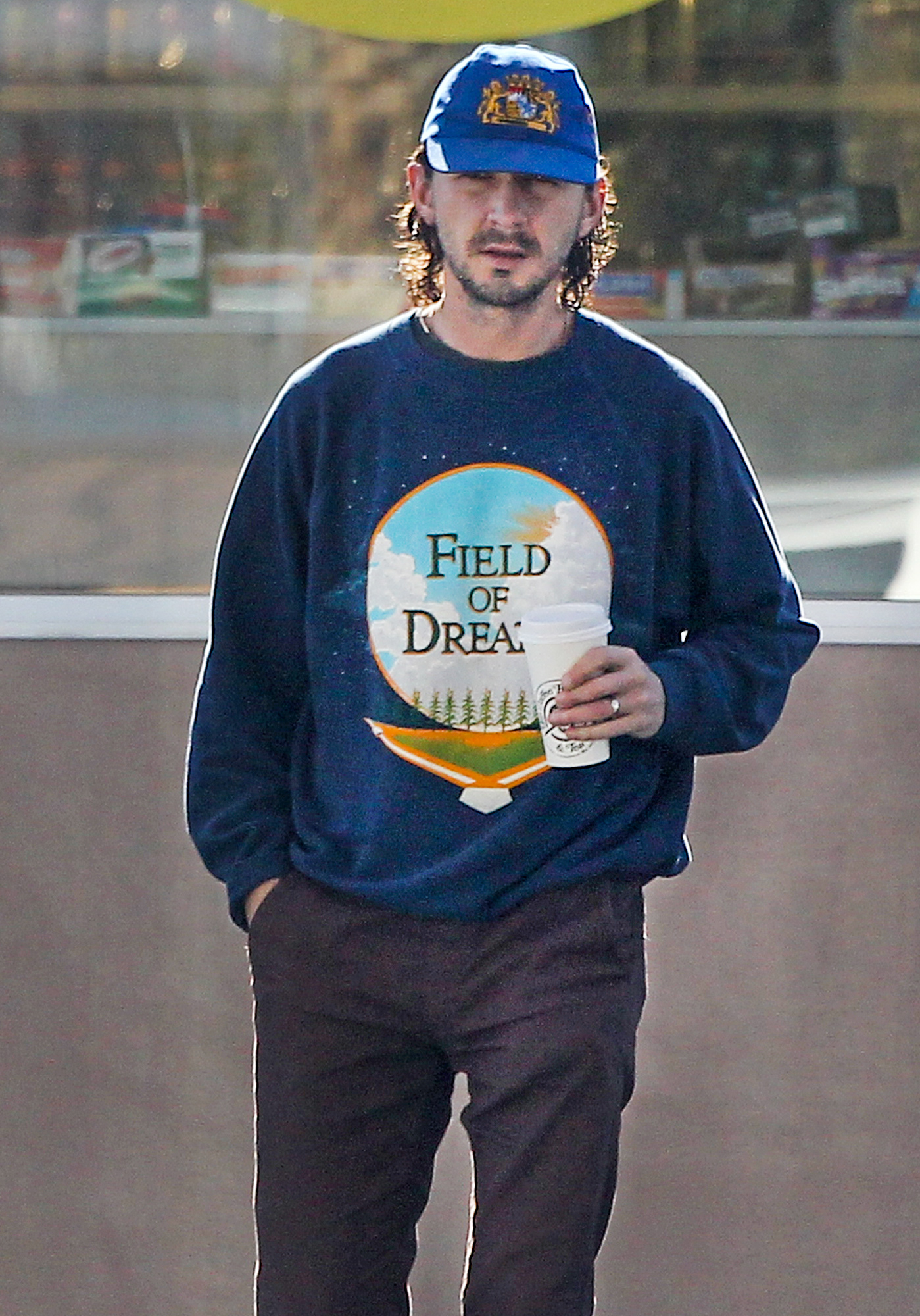 Shia Labeouf filling the tank to his gas guzzling ecomoster in Los Angeles
