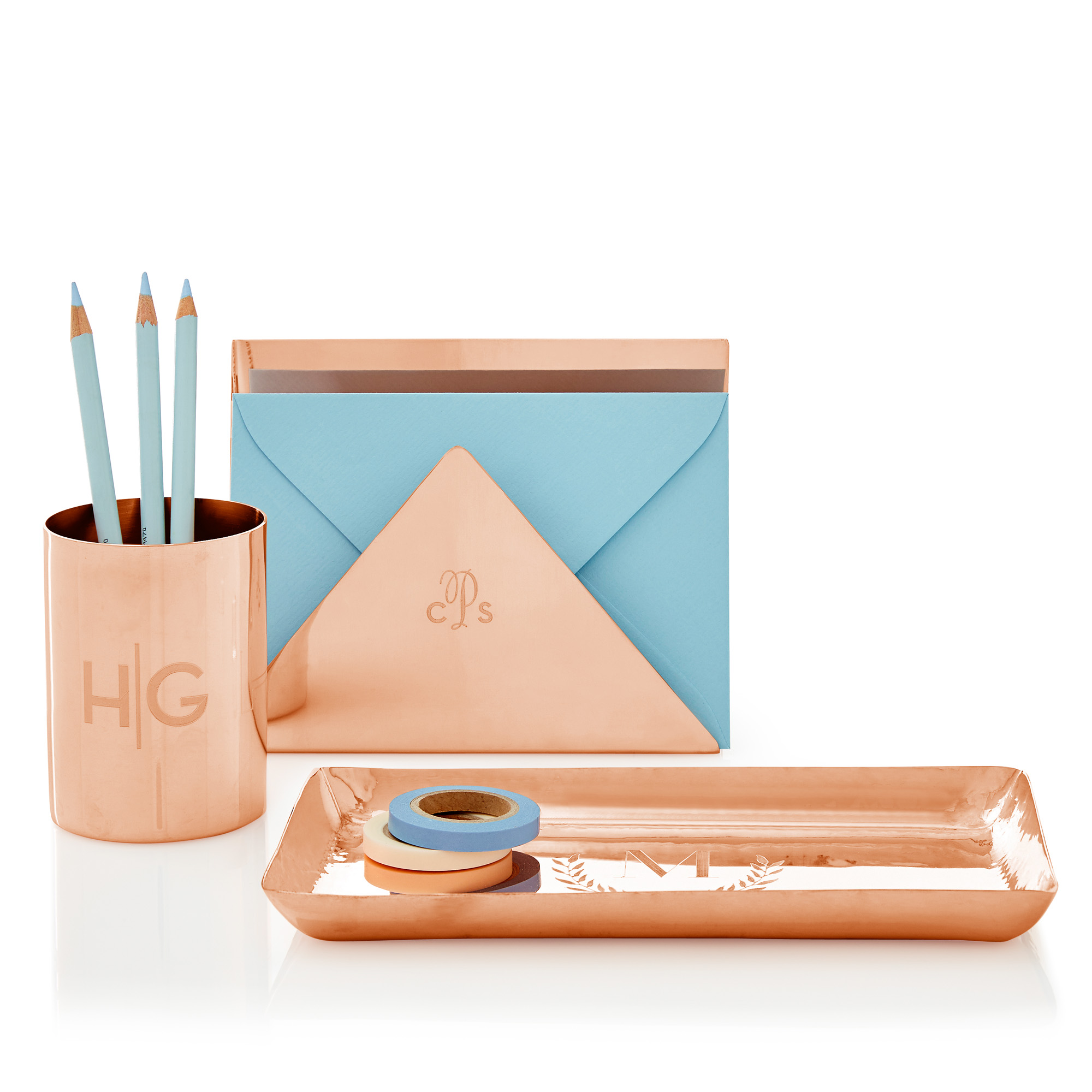 silo_copper_letter_holder_pen_cup_catchall