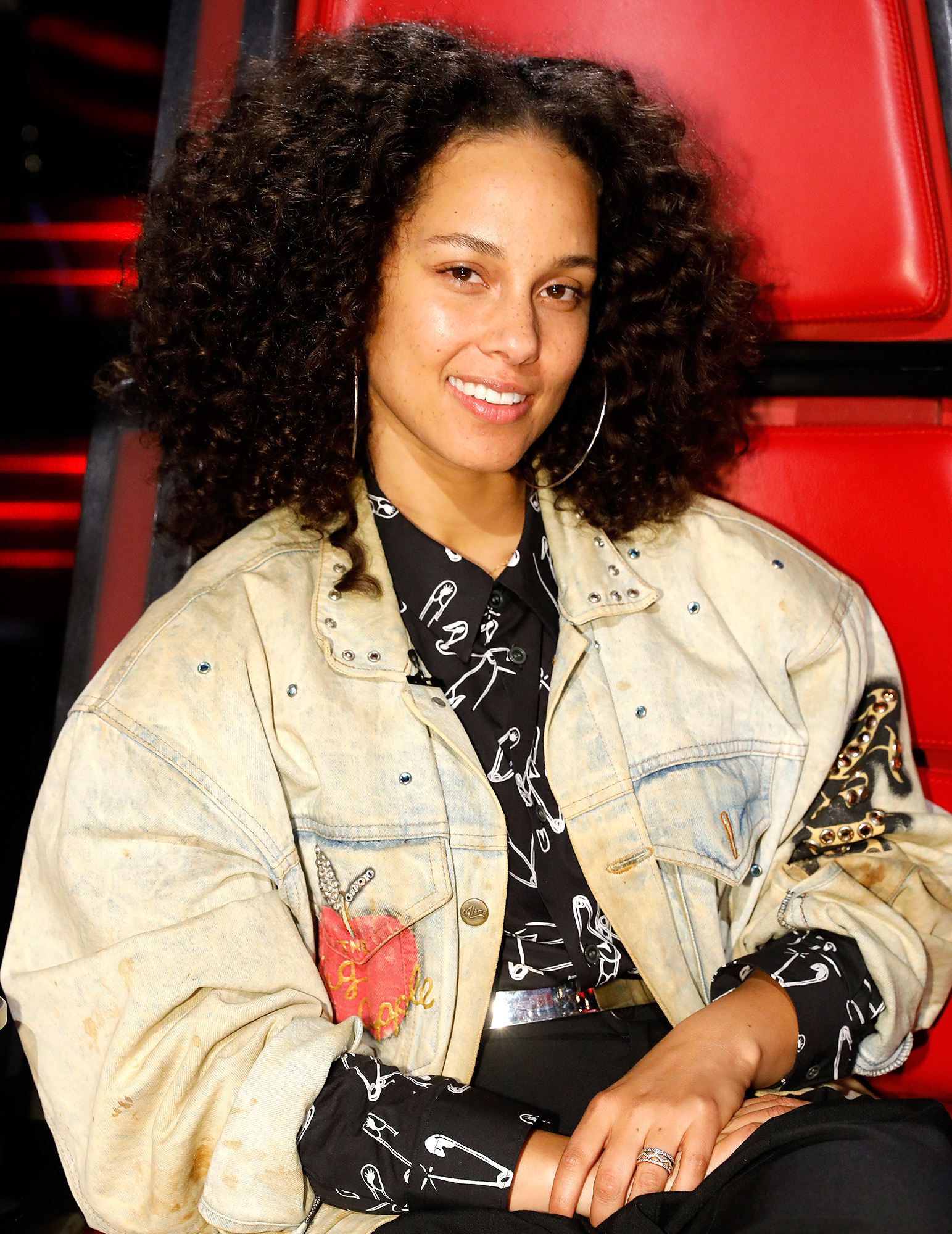 """THE VOICE -- """"Live Top 11"""" Episode: 1115A -- Pictured: Alicia Keys -- (Photo by: Trae Patton/NBC/NBCU Photo Bank via Getty Images)"""