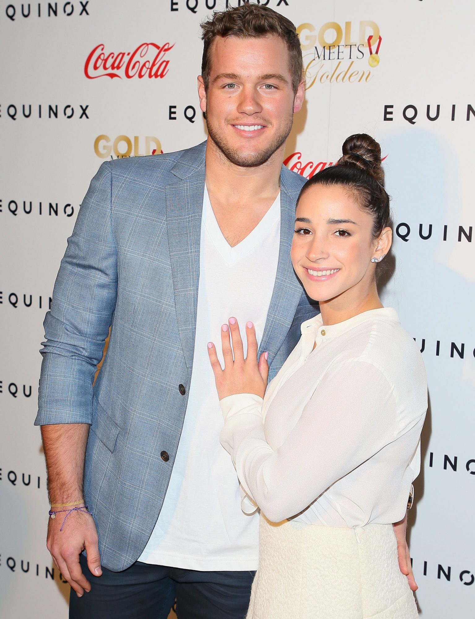 LOS ANGELES, CA - JANUARY 07: Colton Underwood and Aly Raisman attend the Gold Meets Golden event on January 7, 2017 in Los Angeles, California. (Photo by JB Lacroix/WireImage)