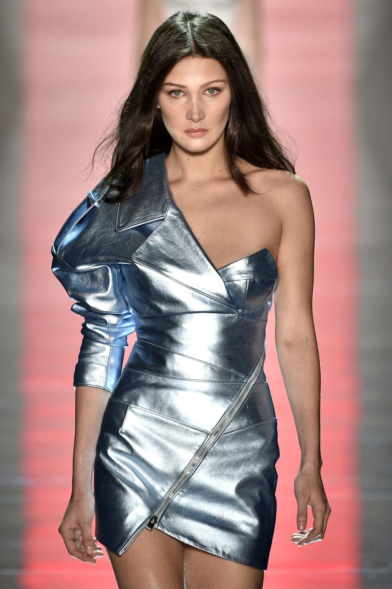 PARIS, FRANCE - JANUARY 24: Bella Hadid walks the runway during the Alexandre Vauthier Spring Summer 2017 show as part of Paris Fashion Week on January 24, 2017 in Paris, France. (Photo by Kristy Sparow/Getty Images)