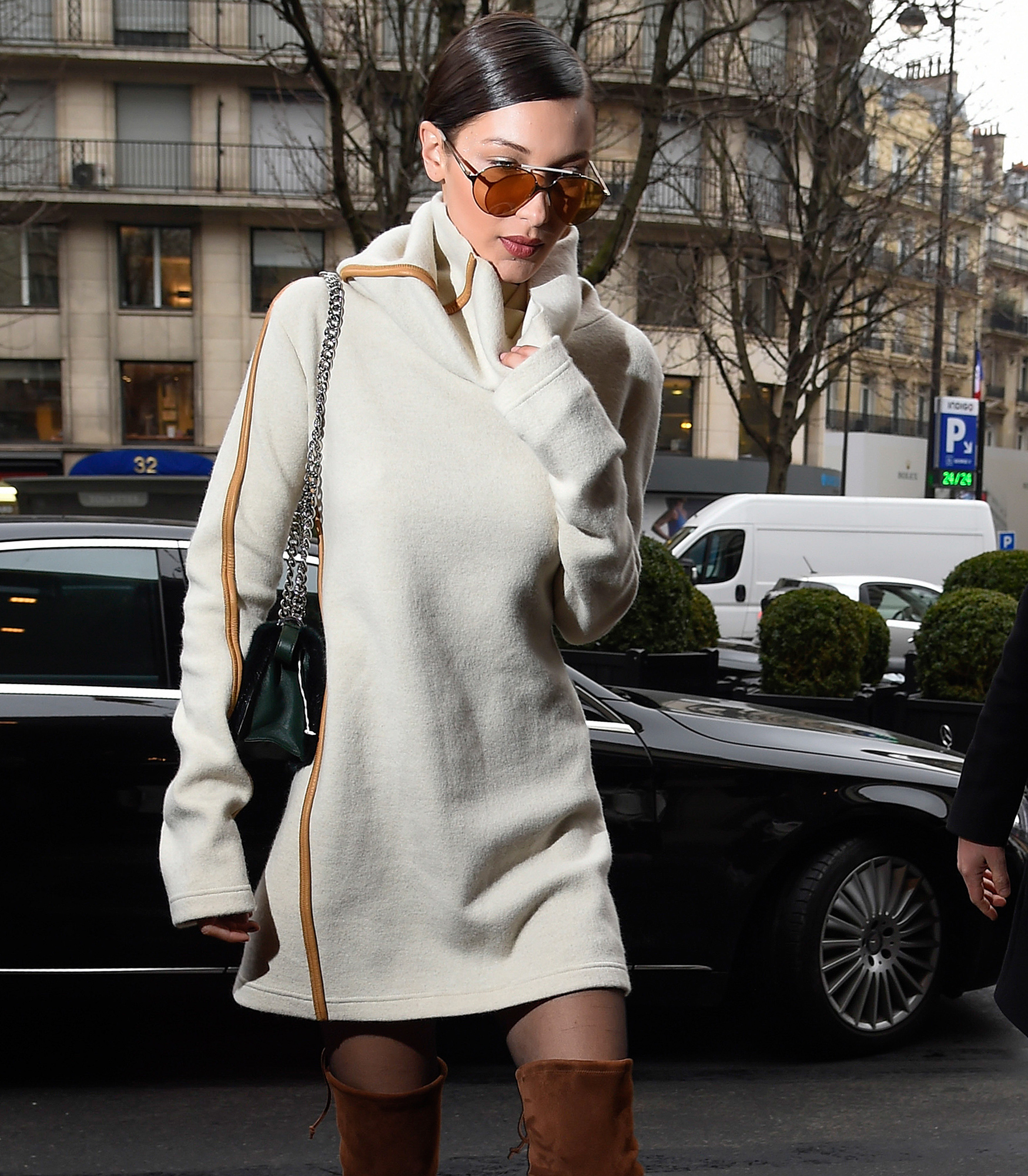Kendall Jenner and Bella Hadid looking stylish leaving the Chanel fashion show
