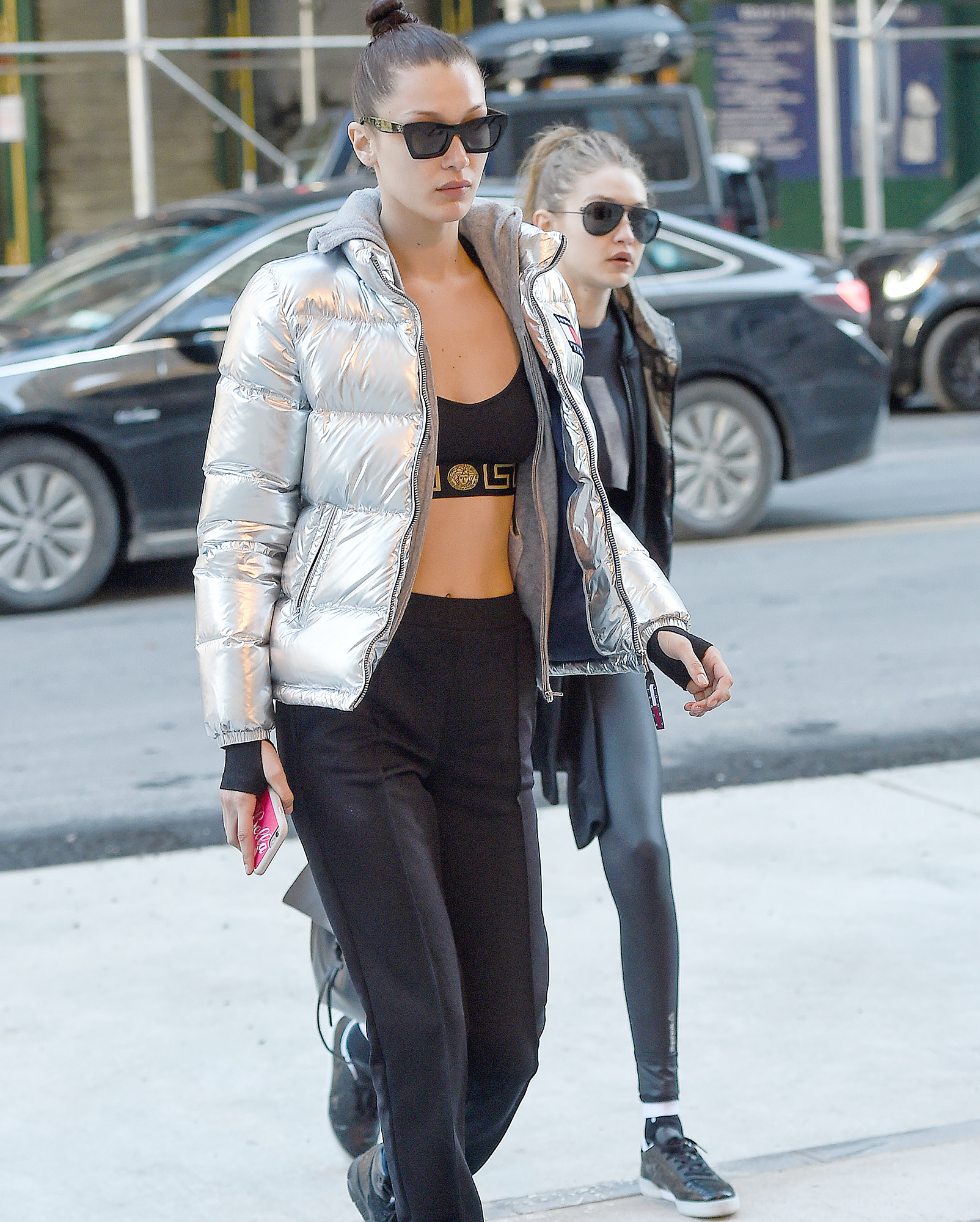 Bella Hadid and Gigi Hadid seen wearing workout clothes in New York City