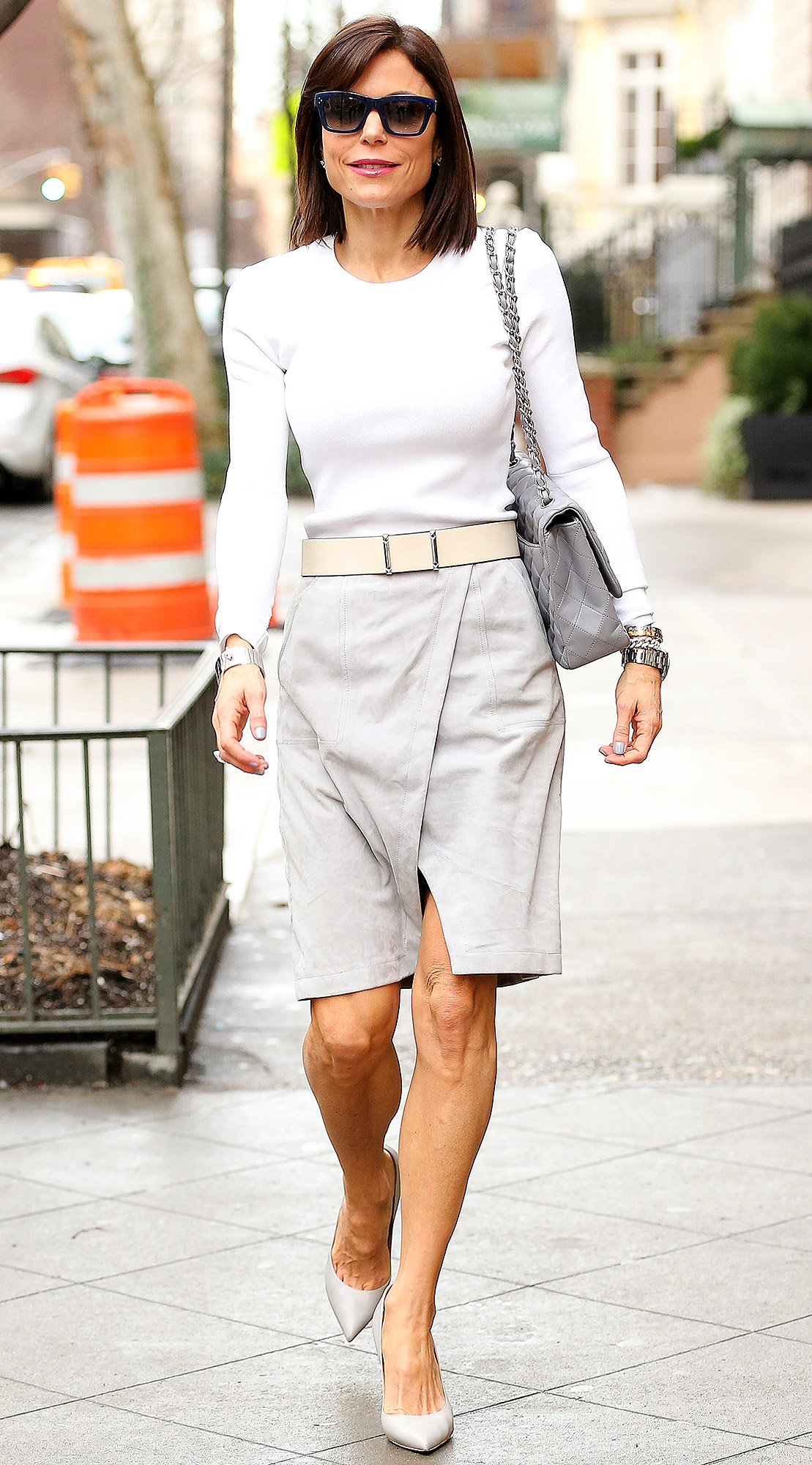 Bethenny Frankel spotted heading into Alice's Tea Cup in the upper east side, New York City