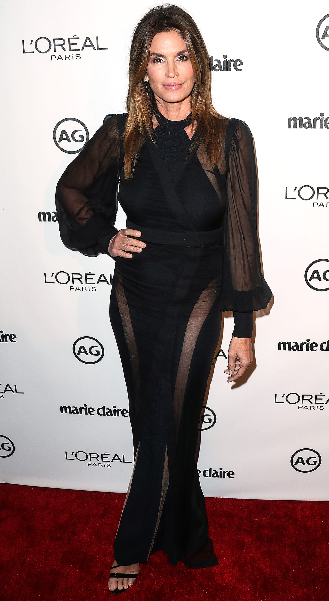 Cindy Crawford arrives at Marie Claire's Image Maker Awards 2017