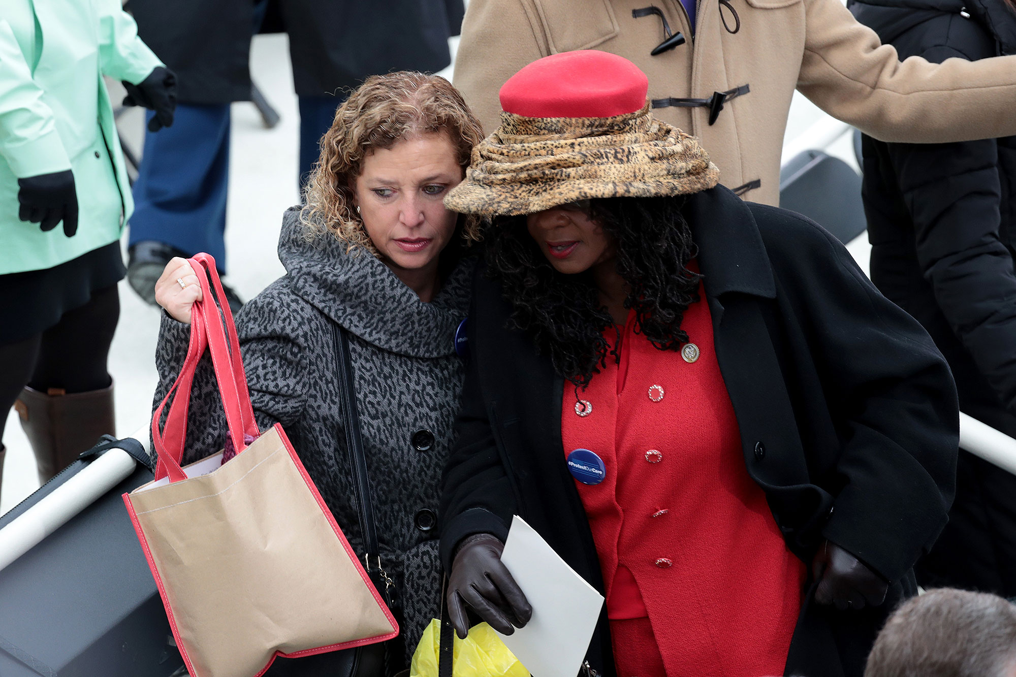 WASHINGTON, DC - JANUARY 20: Rep. Debbie Wasserman-Schultz (D-FL) arrives on the West Front of the U.S. Capitol on January 20, 2017 in Washington, DC. In today's inauguration ceremony Donald J. Trump becomes the 45th president of the United States. (Photo by Scott Olson/Getty Images)