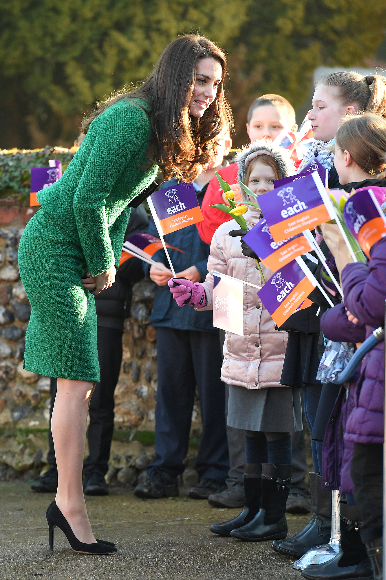 Catherine, Duchess of Cambridge arrives to receive an update on The Nook Appeal at EACH on January 24, 2017 in Quidenham, Norfolk. HRH is Royal Patron of EACH (East Anglia's Children's Hospices) and launched The Nook Appeal in 2014.