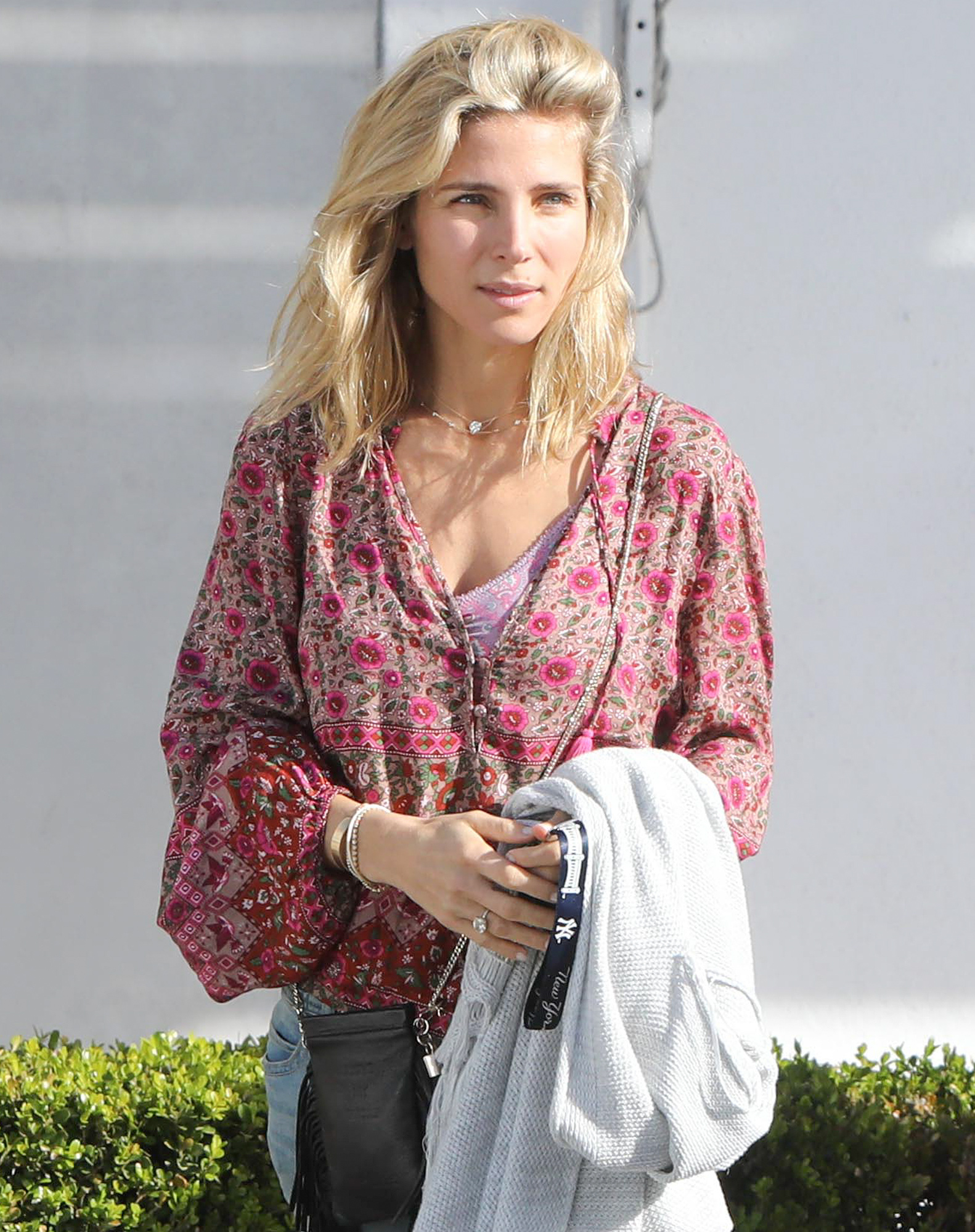 *EXCLUSIVE* Elsa Pataky goes makeup free for outing with her mom