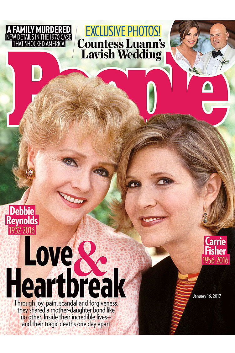 Debbie Reynolds Carrie Fisher People Cover