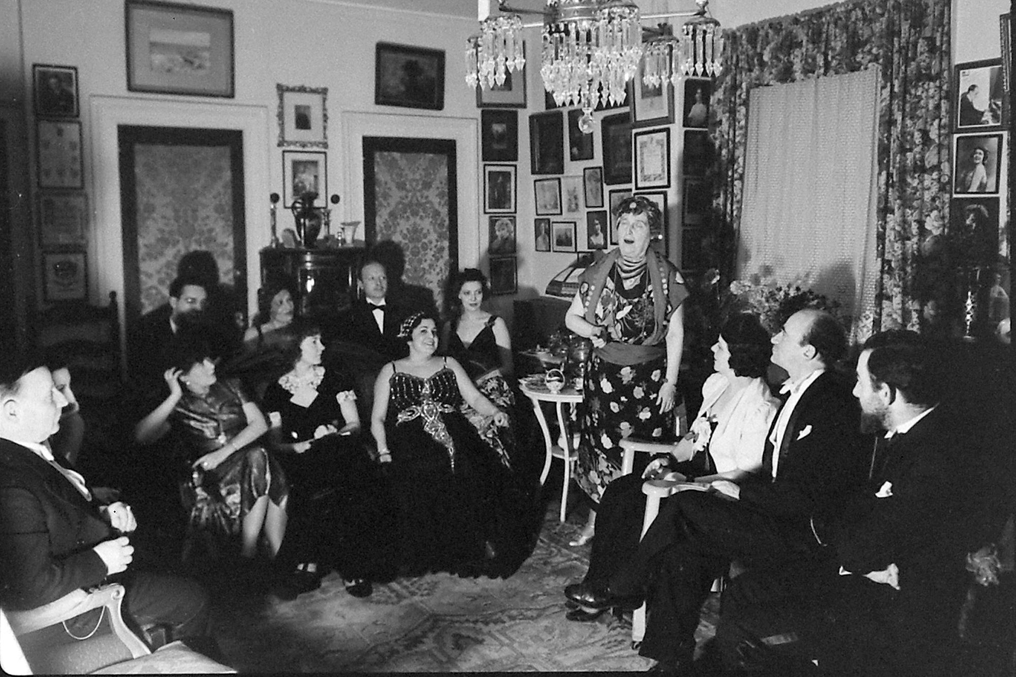 Florence Foster Jenkins Entertains At Home