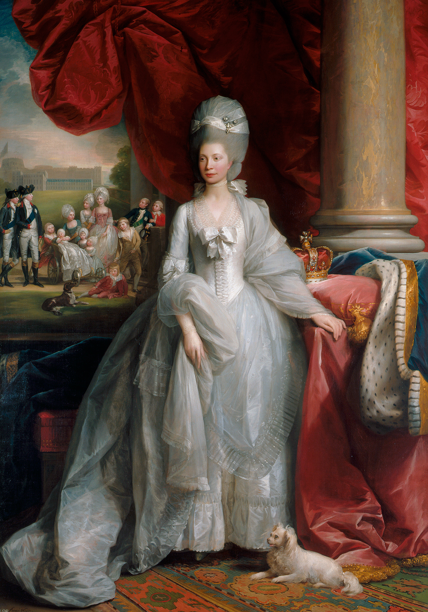 EMBARGOED UNTIL 00:01 SATURDAY 28 JANUARY 2017 Benjamin West, Queen Charlotte, 1779 Credit: Royal Collection Trust / © Her Majesty Queen Elizabeth II 2017 Single use only; not to be archived or passed on to third parties