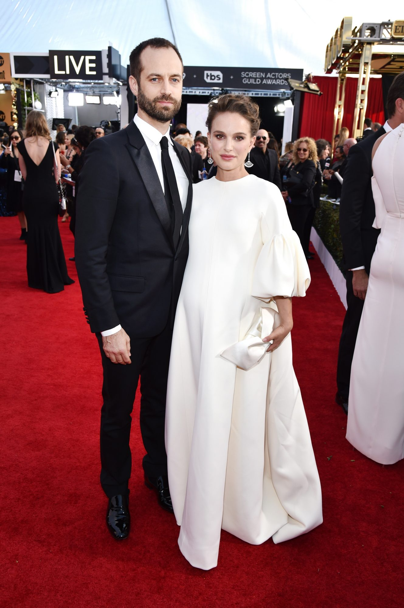LOS ANGELES, CA - JANUARY 29: Choreographer Benjamin Millepied (L) and actor Natalie Portman attend The 23rd Annual Screen Actors Guild Awards at The Shrine Auditorium on January 29, 2017 in Los Angeles, California. (Photo by John Shearer/Getty Images for People Magazine)