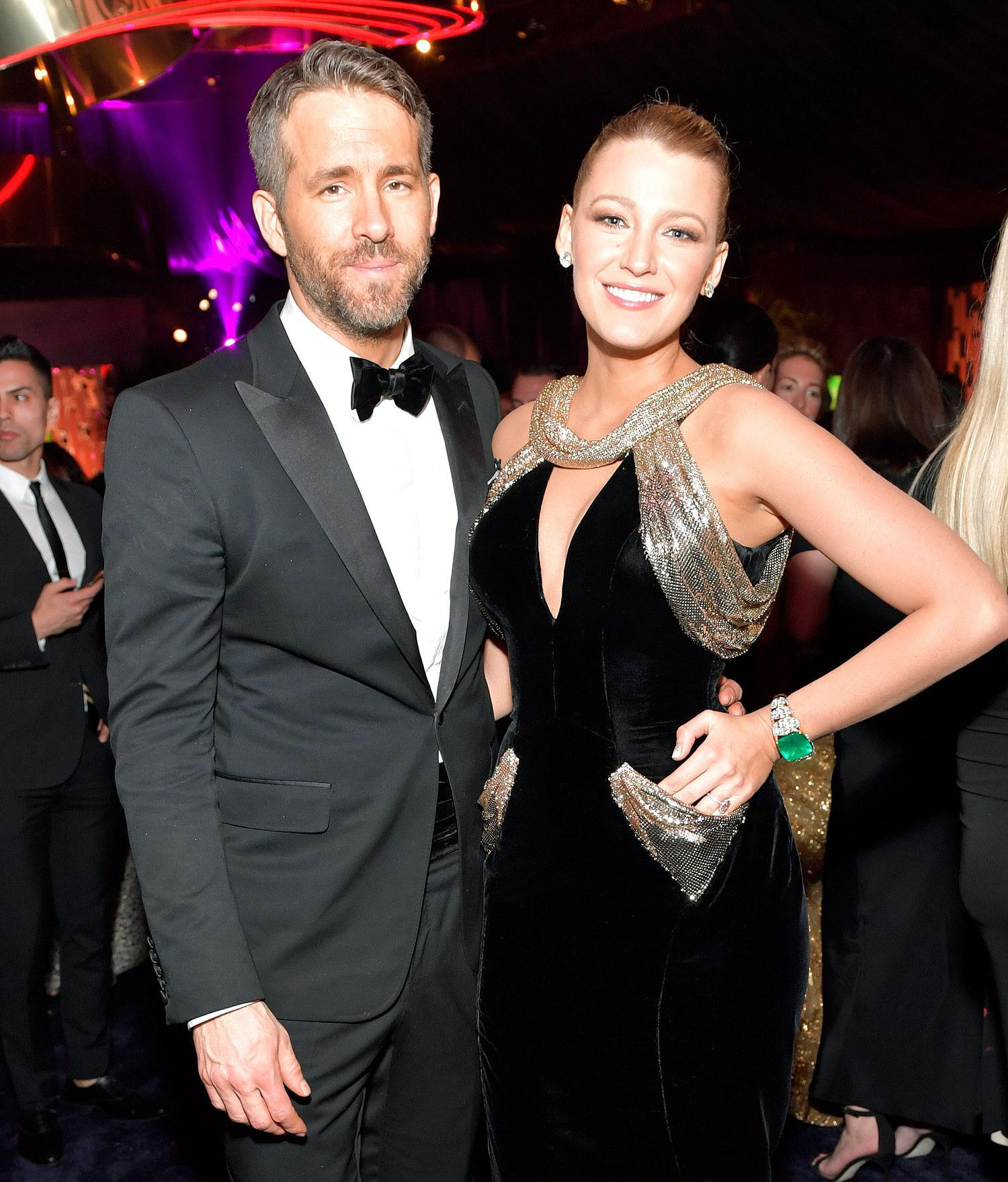 BEVERLY HILLS, CA - JANUARY 08:  Actors Ryan Reynolds (L) and Blake Lively attend The 2017 InStyle and Warner Bros. 73rd Annual Golden Globe Awards Post-Party at The Beverly Hilton Hotel on January 8, 2017 in Beverly Hills, California.  (Photo by Stefanie Keenan/Getty Images for InStyle)