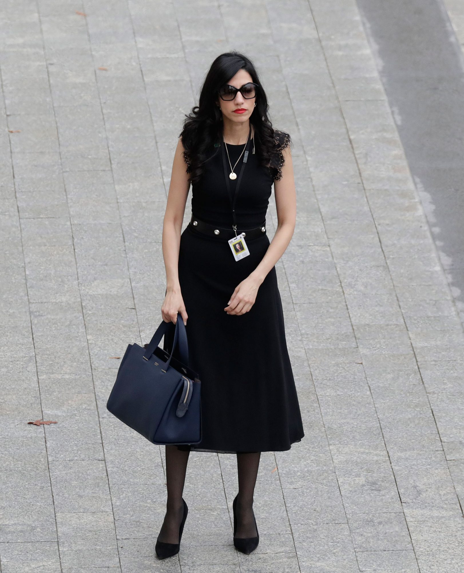 WASHINGTON, DC - JANUARY 20: Hillary Clinton aide Huma Abedin arrives near the east front steps of the Capitol Building before President-elect Donald Trump is sworn in at the 58th Presidential Inauguration on Capitol Hill January 20, 2017 in Washington, D.C. In today's inauguration ceremony Donald J. Trump becomes the 45th president of the United States. (Photo by John Angelillo-Pool/Getty Images)