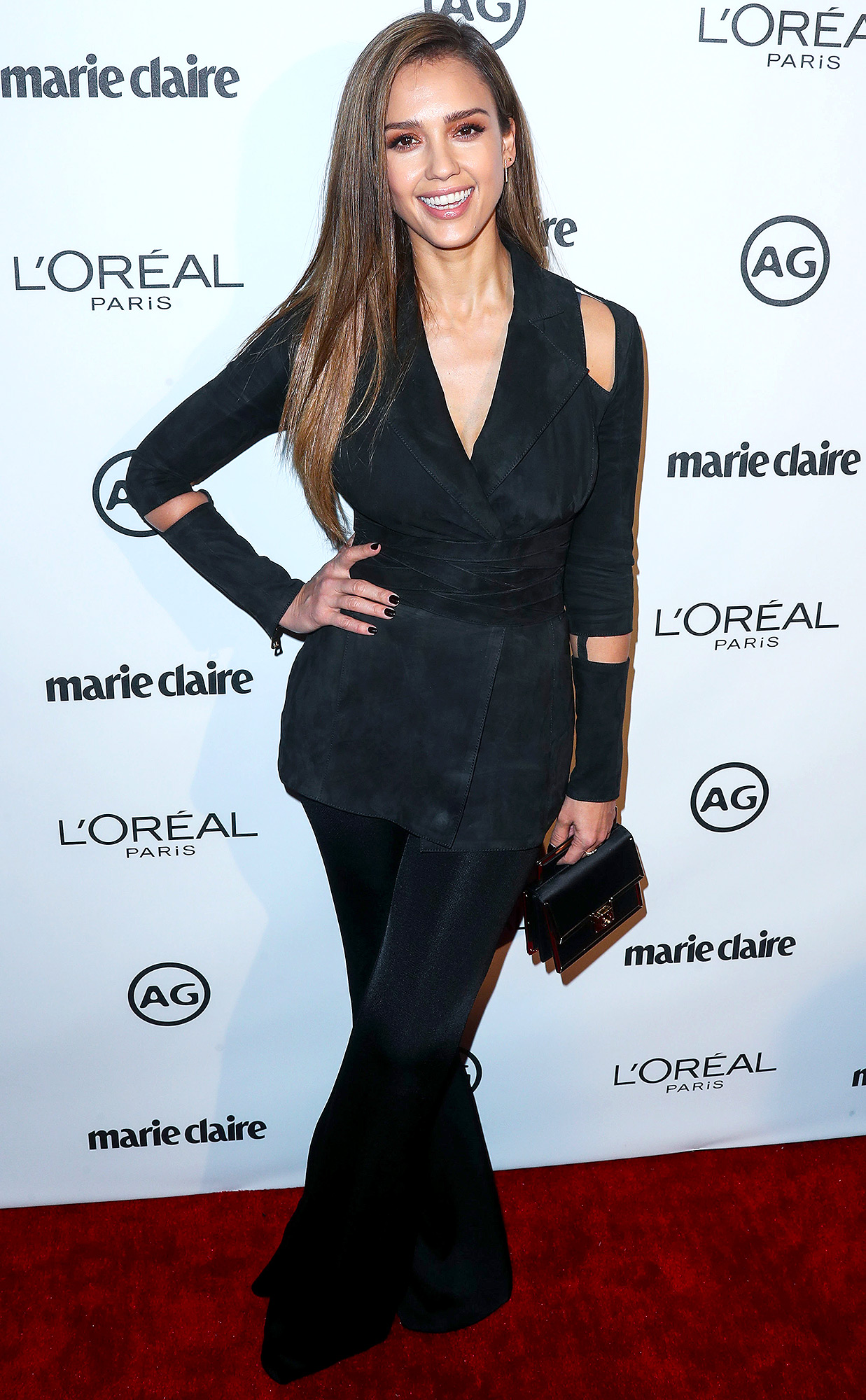 Jessica Alba arrives at Marie Claire's Image Maker Awards 2017