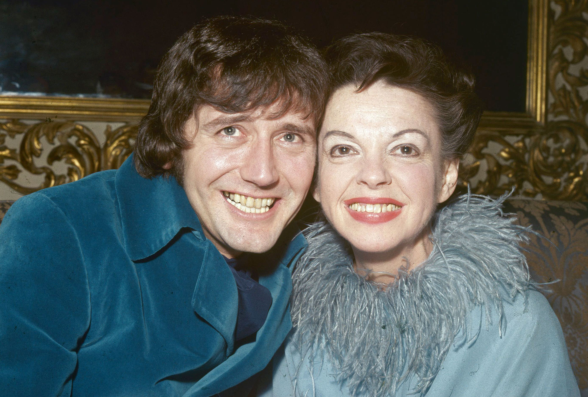 March 1969: American film actress Judy Garland (1922 - 1969) with her husband Mickey Deans after their wedding at Chelsea Register Office in London. (Photo by Central Press/Getty Images)