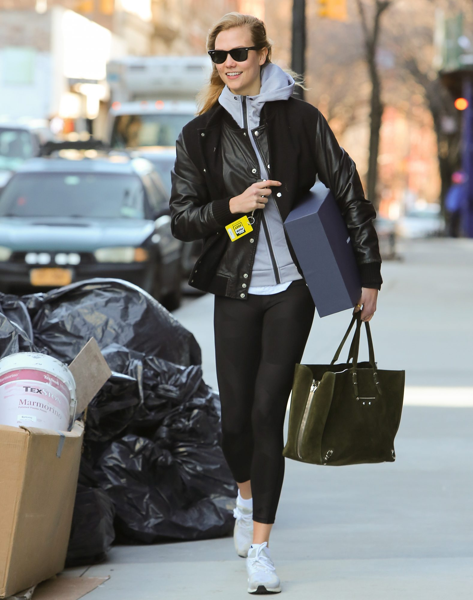 Karlie Kloss leaving her apartment in the West Village
