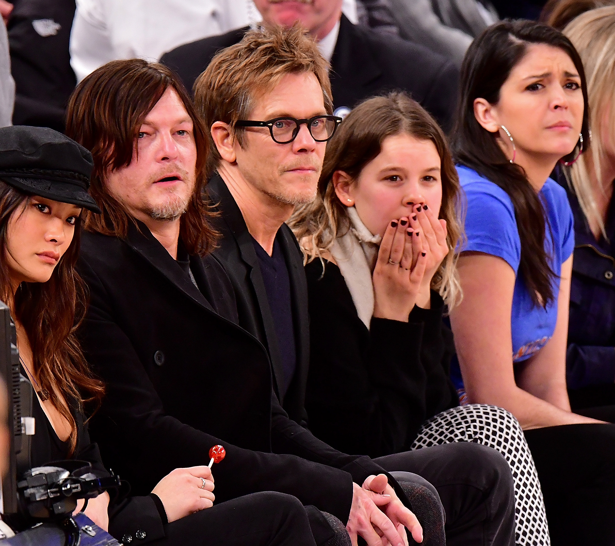 Celebrities Attend New Orleans Pelicans Vs. New York Knicks - January 9, 2017