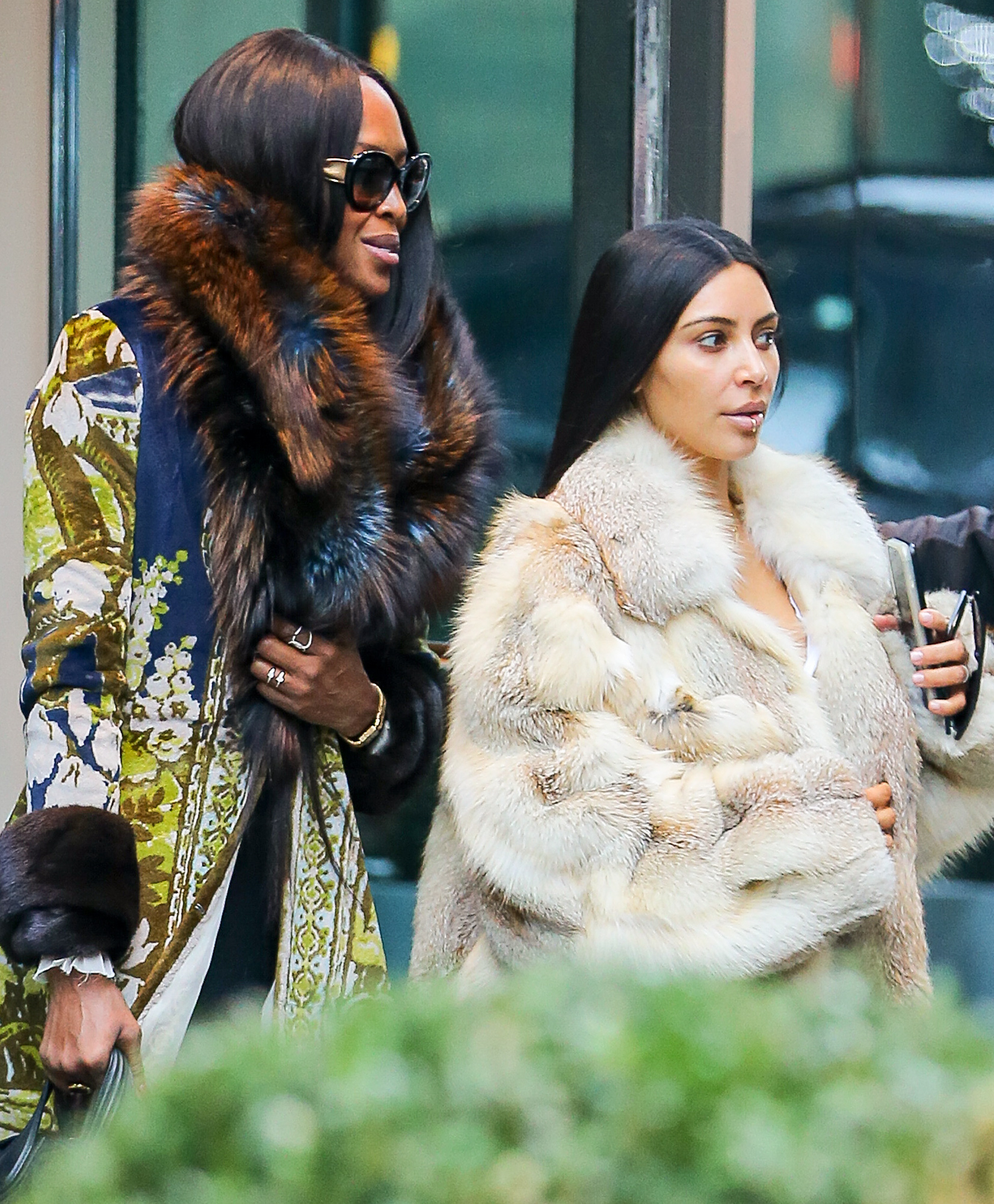 EXCLUSIVE: Kim Kardashian and Naomi Campbell have lunch at Milos Restaurant in New York City