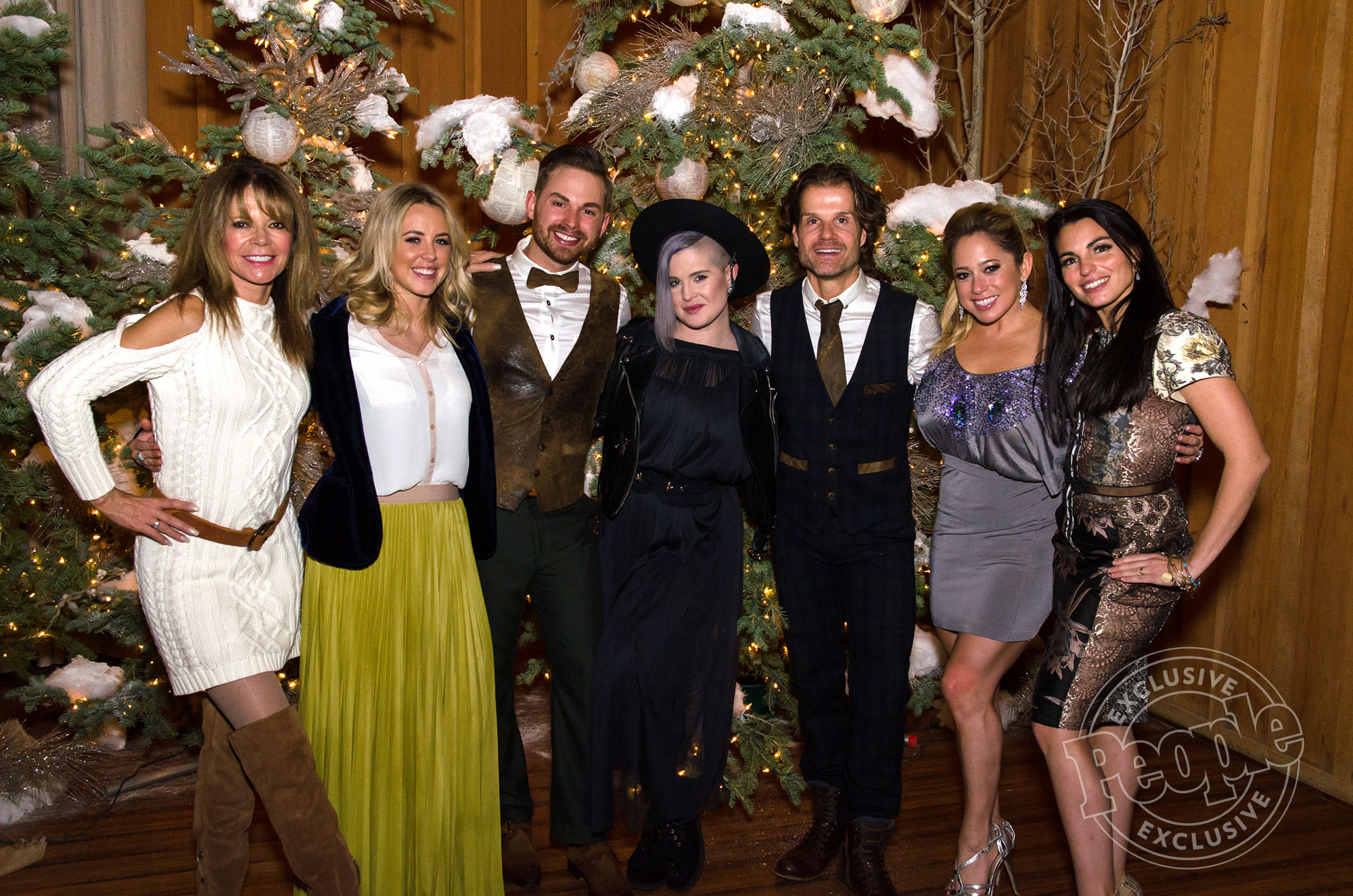 Wedding of Louis van Amstel and Joshua Lancaster, Sunday, January 8, 2017. Sundance Here's that photo L to R: Mary-Margaret Humes, Chelsie Hightower, Joshua, Kelly Osbourne, Louis, Sabrina Bryan, Ashley delgrosso-costa† credit: © 2017 Rachel Giese Photography Sent to Patrick by Louis' reps: Jay Schwartz Javier Delgado Contact them for reuse. Photographer contact info, if needed is: rachelgiesecreative@gmail.com