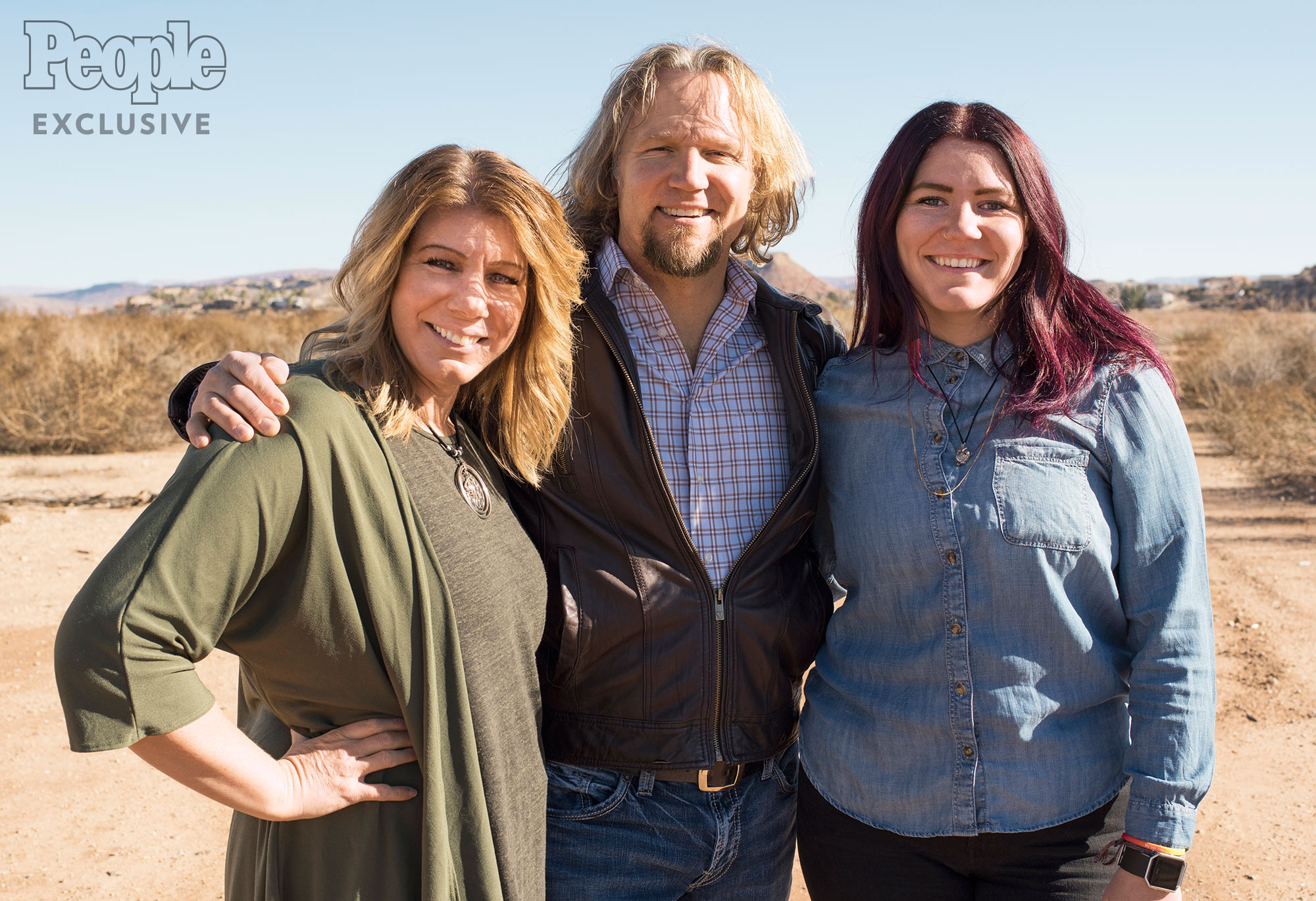 Sister Wives' Kody, Meri and Mariah Brown photographed in St. George, UT, on Dec. 18, 2016. Photographer: Christian Witkin Hair and Makeup: Noel Kanaley/Zenobia Agency
