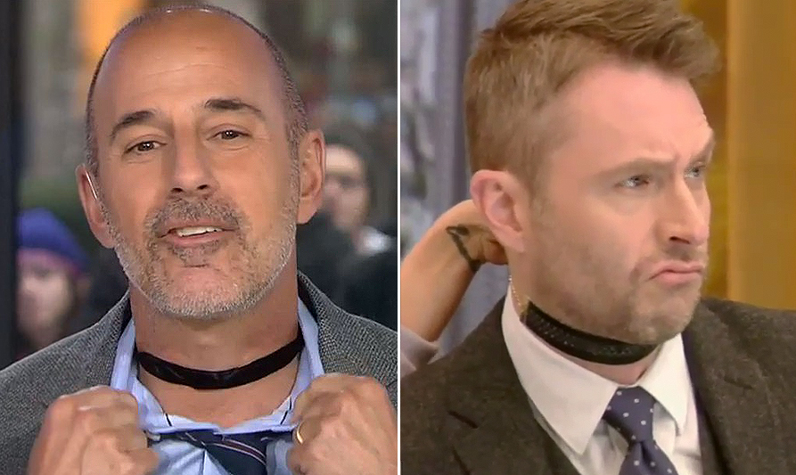 matt lauer; and chris hardwick on live with kelly