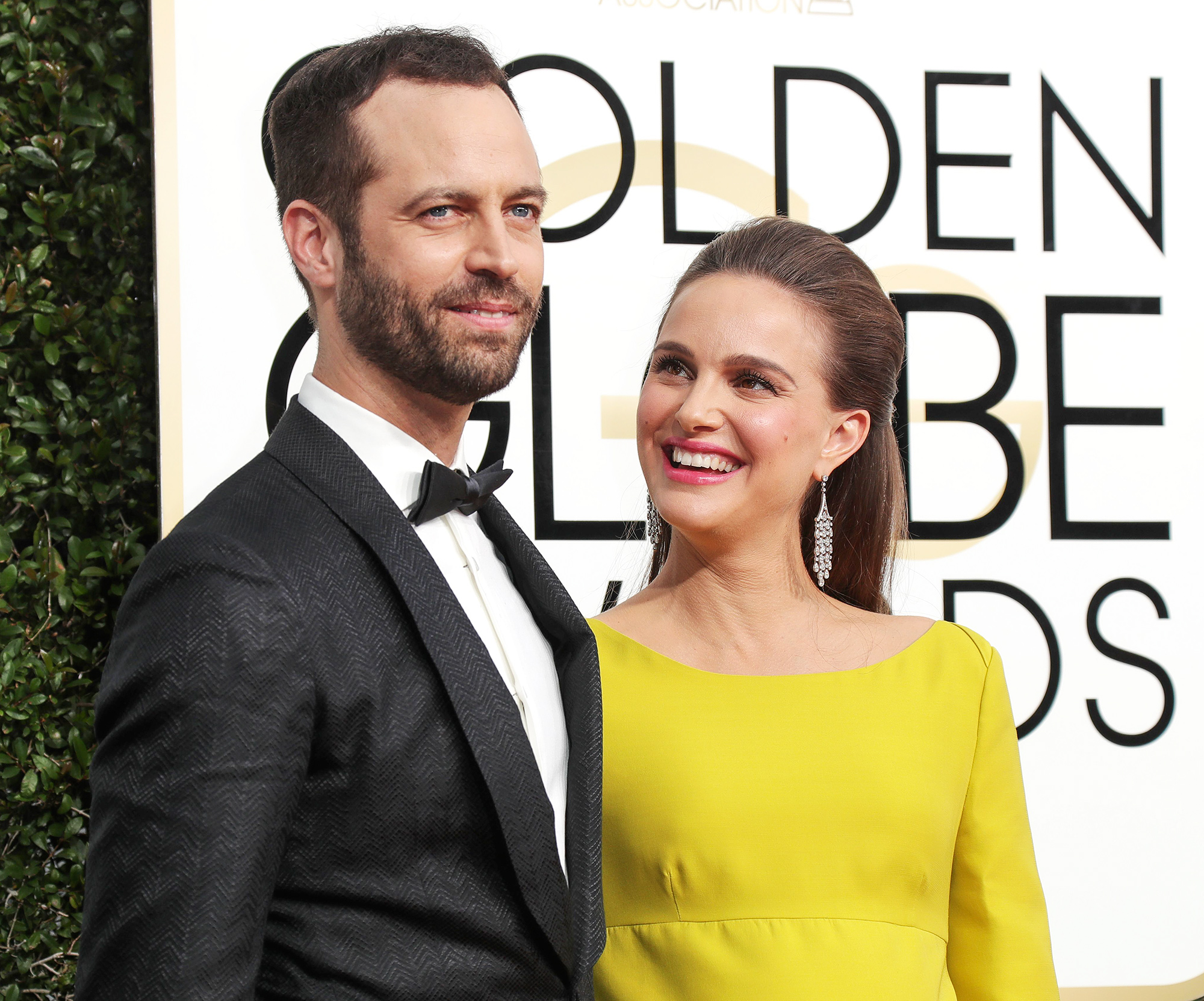 Mandatory Credit: Photo by Jim Smeal/BEI/Shutterstock (7734775dx) Benjamin Millepeid and Natalie Portman 74th Annual Golden Globe Awards, Arrivals, Los Angeles, USA - 08 Jan 2017