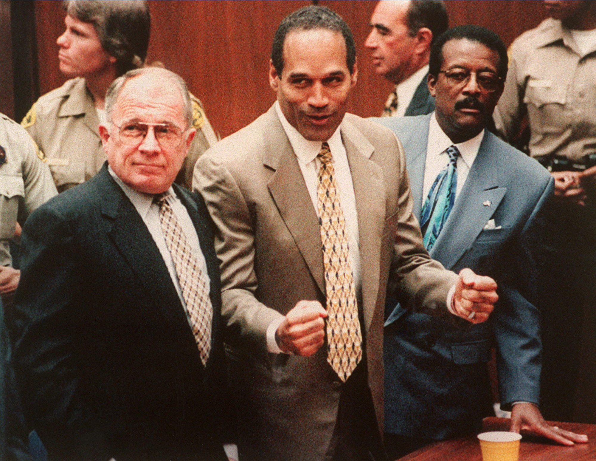 OJ Simpson Hears Not Guilty Verdict With Attorneys