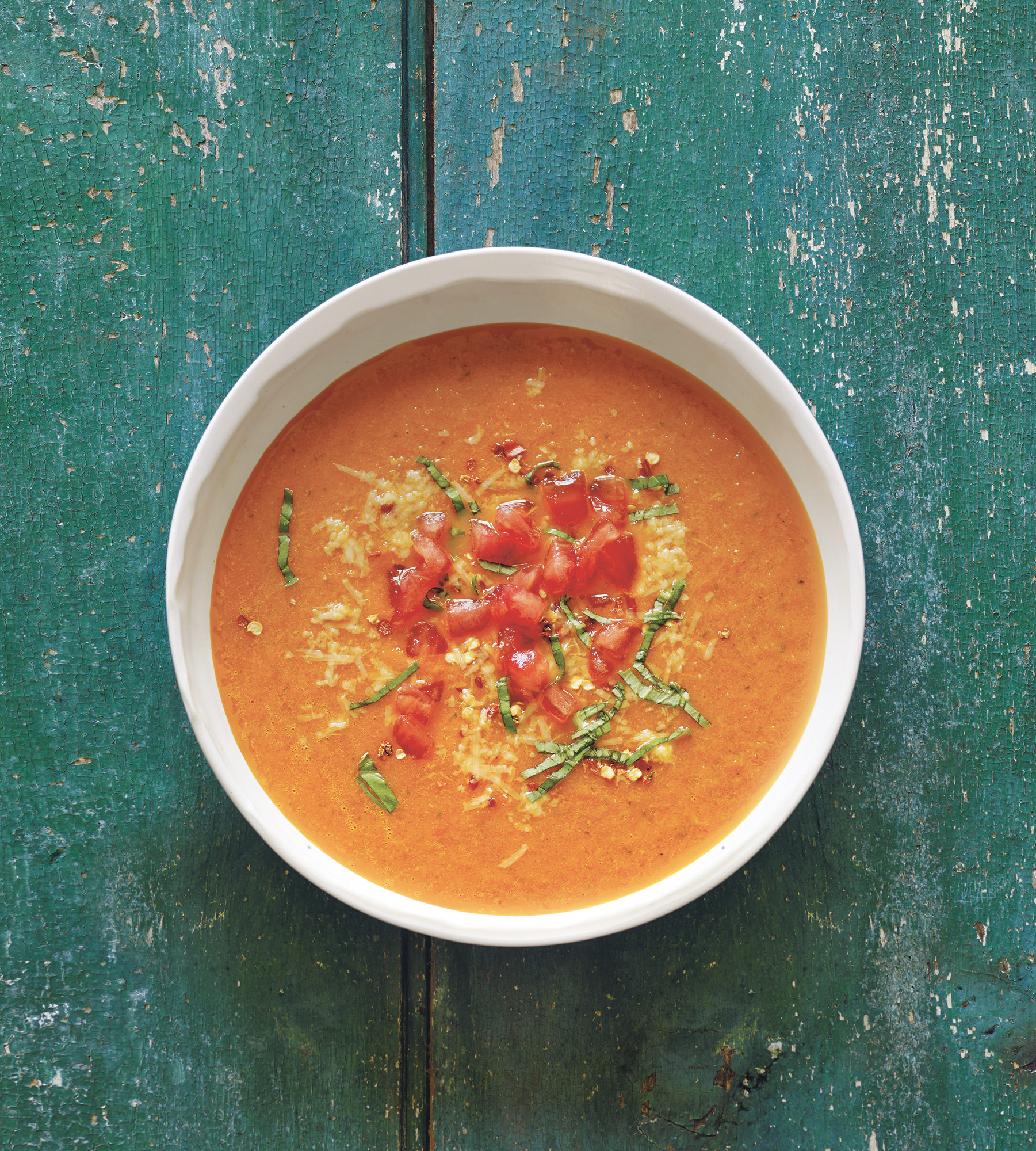 Tomato Soup recipe from Oprah Winfrey's book Food, Health & Happiness Credit: Tina Rupp/Food, Health, and Happiness we have permission to silo Sent by/contact for reuse: Marlena Bittner