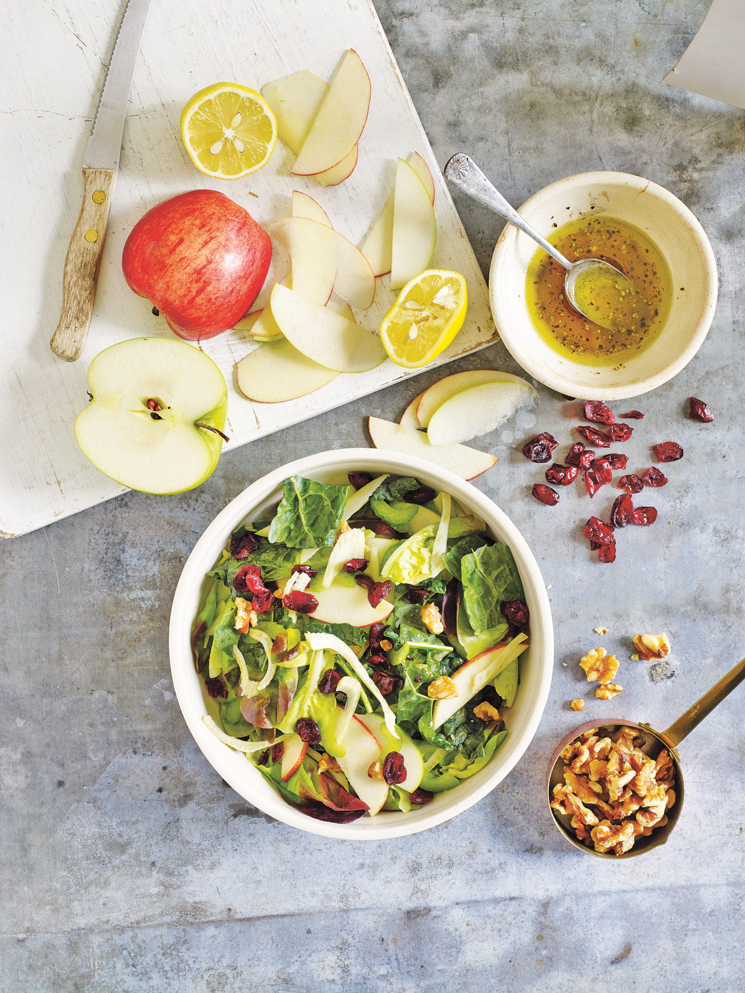 Tuscan Kale Apple Salad from Oprah's book Credit: Tina Rupp/Food, Health, and Happiness sent in by: Marlena Bittner