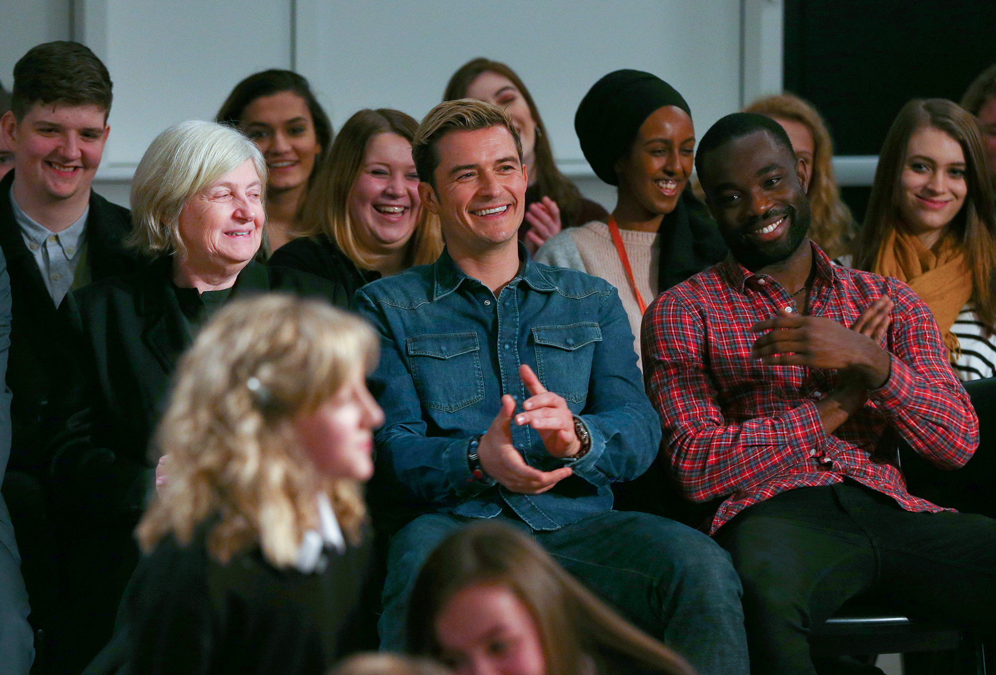 USA Rights Only - Cheadle, UK - 1/27/17 The Laurus Trust launch held at Cheadle Hulme High School. The Trust has co-created its own Curriculum with Patsy Rodenburg, and two of her former pupils - Orlando Bloom and Paapa Essiedu - who are helping run workshops along with the Royal Shakespeare Company - showcasing the ethos and type of work that will be embedded in Laurus Trust schools. -PICTURED: Orlando Bloom -PHOTO by: Dave Thompson/PA Images/INSTARimages.com -INSTAR_Laurus_Trust_Launch_3341819595.JPG Editorial Rights Managed Image - Please contact www.INSTARimages.com for licensing fee and rights: North America Inquiries: email sales@instarimages.com or call 212.414.0207 - UK Inquiries: email ben@instarimages.com or call + 7715 698 715 - Australia Inquiries: email sarah@instarimages.com.au †or call +02 9660 0500 ñ for any other Country, please email sales@instarimages.com. †Image or video may not be published in any way that is or might be deemed defamatory, libelous, pornographic, or obscene / Please consult our sales department for any clarification or question you may have - http://www.INSTARimages.com reserves the right to pursue unauthorized users of this image or video. If you are in violation of our intellectual property you may be liable for actual damages, loss of income, and profits you derive from the use of this image or video, and where appropriate, the cost of collection and/or statutory damage.