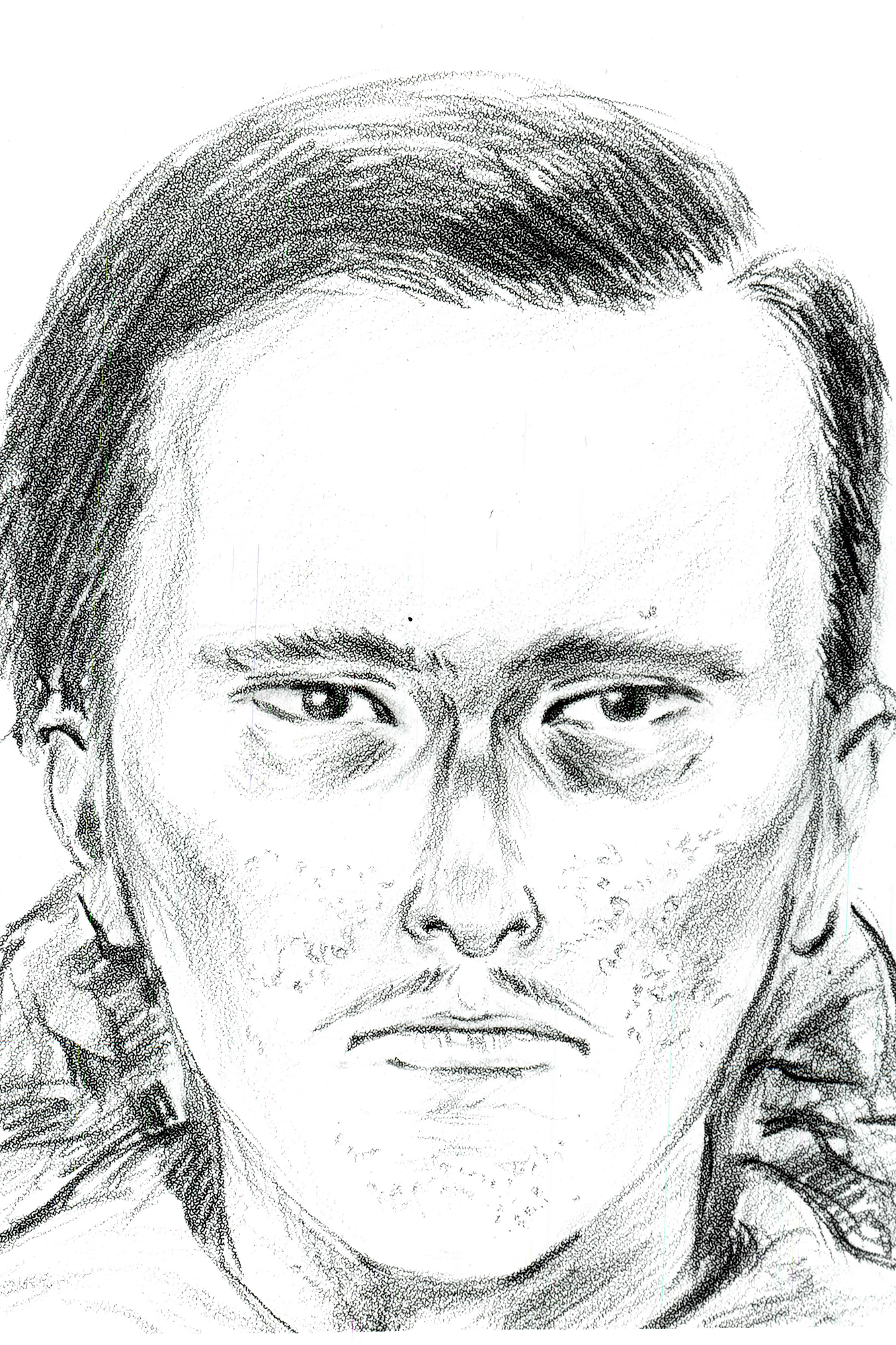 Police sketches of suspects in the killing of the MacDonald Family. White Male with pock marks on his cheeks and chin.
