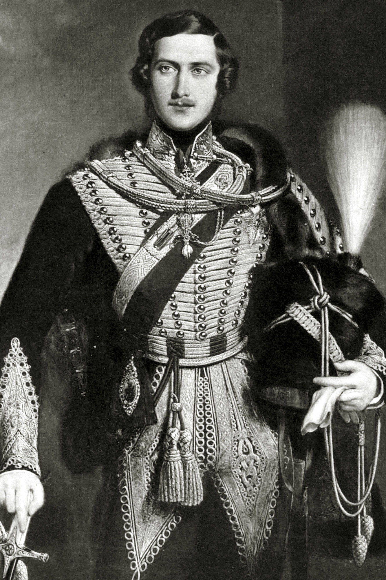 History Personalities, British Royalty, pic: circa 1840's, Prince Albert, (1819-1861) portrait, pictured in uniform, Prince Albert, a Prince of Saxe Coburg Gotha, married Queen Victoria in 1840 and later was given the title Prince Consort