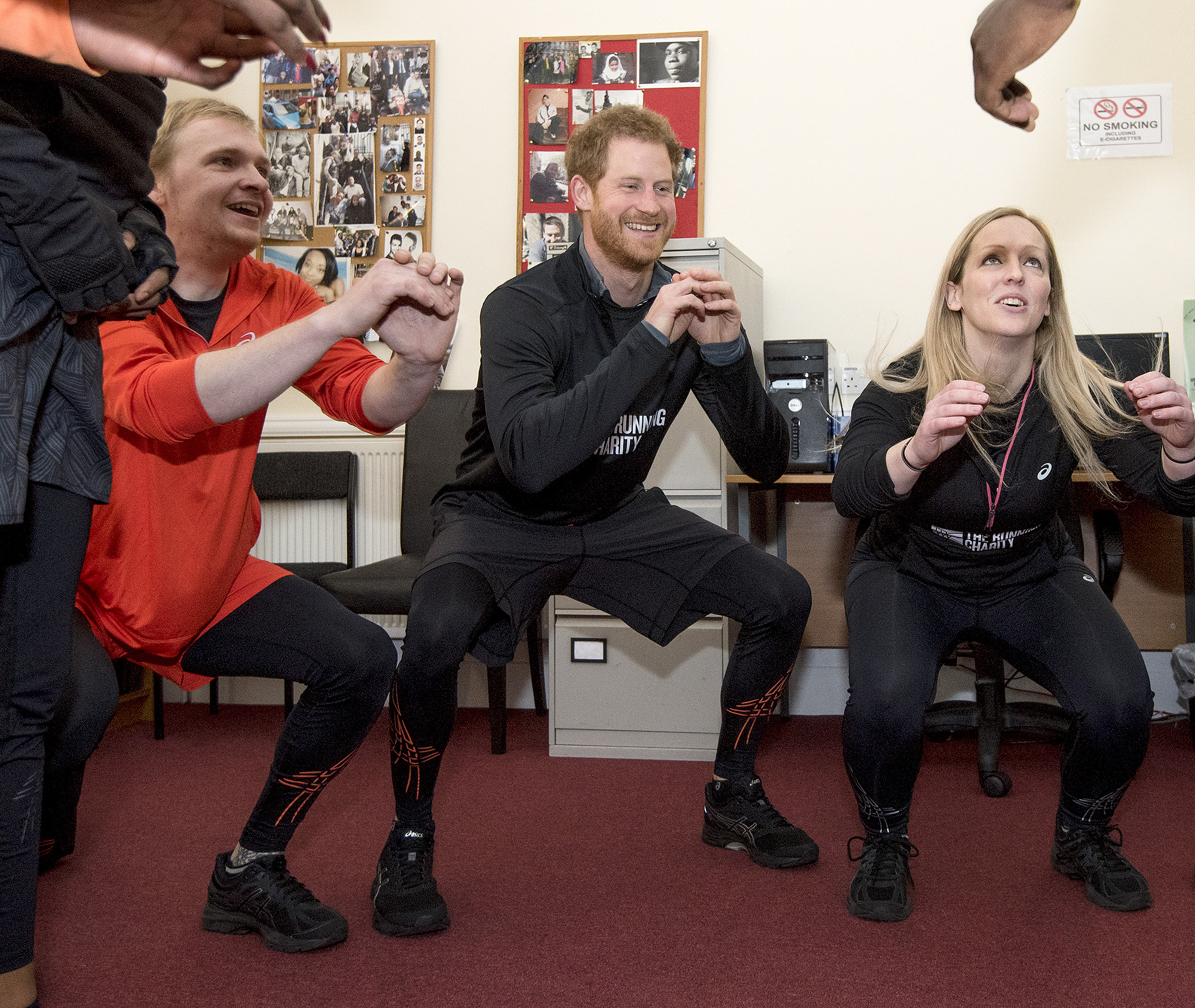 Prince Harry Visits The Running Charity