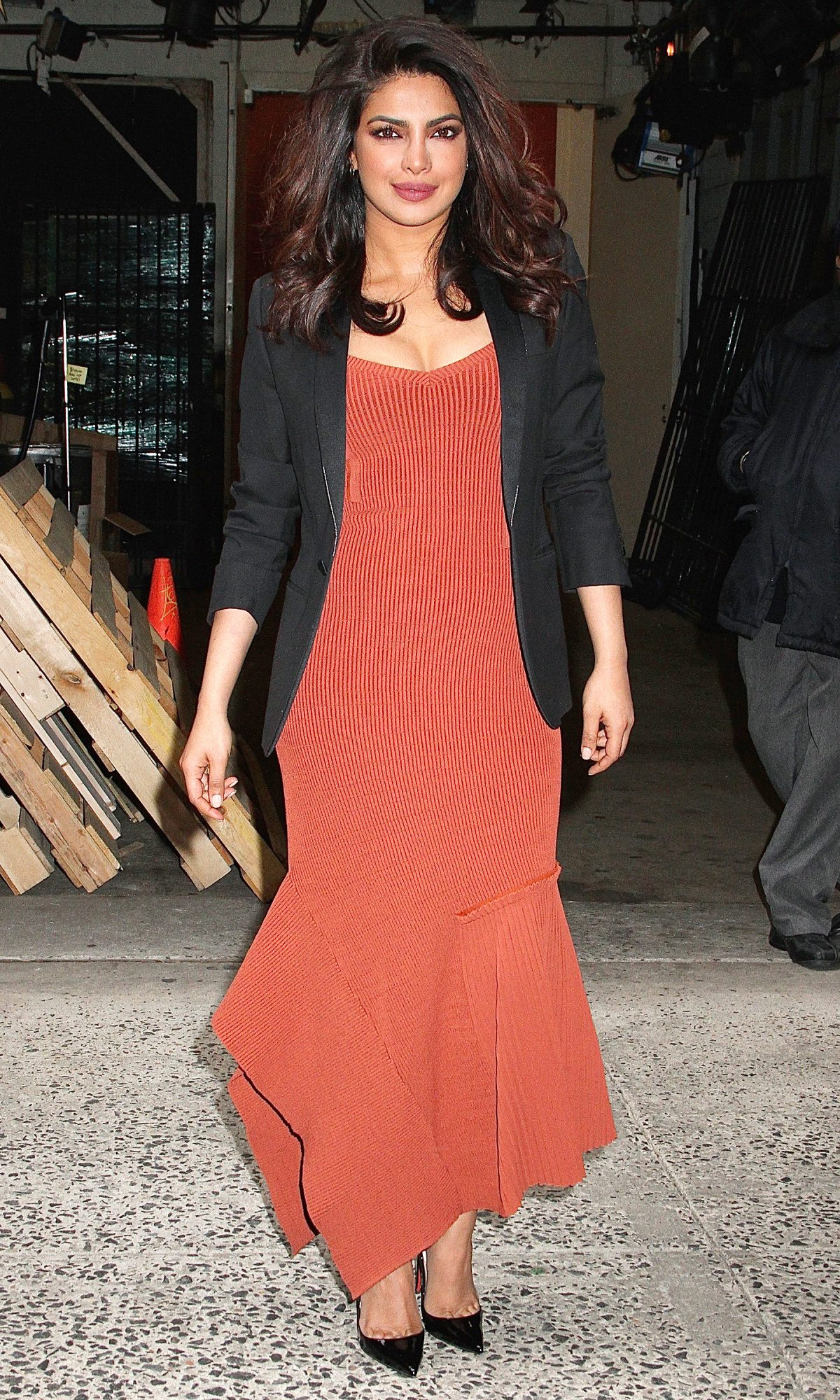 Indian actress Priyanka Chopra spotted leaving 'Live with Kelly' in NYC