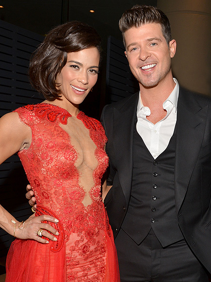 Paula Patton and recording artist Robin Thicke