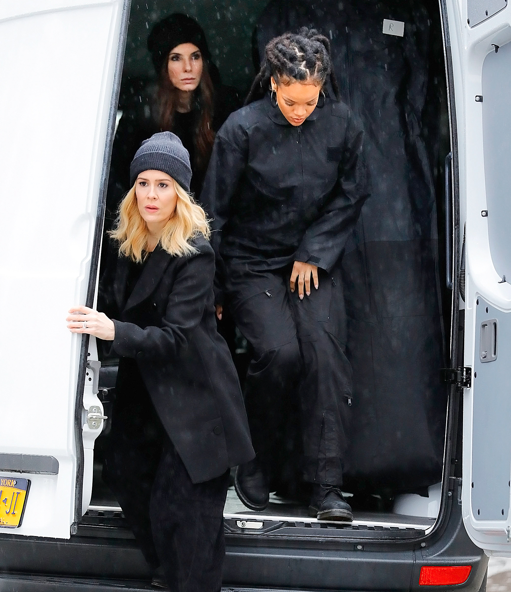 Actors spotted filming on location for 'Ocean's 8' in New York City