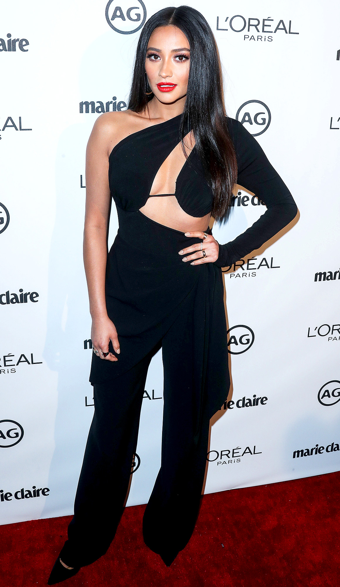 Shay Mitchell arrives at Marie Claire's Image Maker Awards 2017