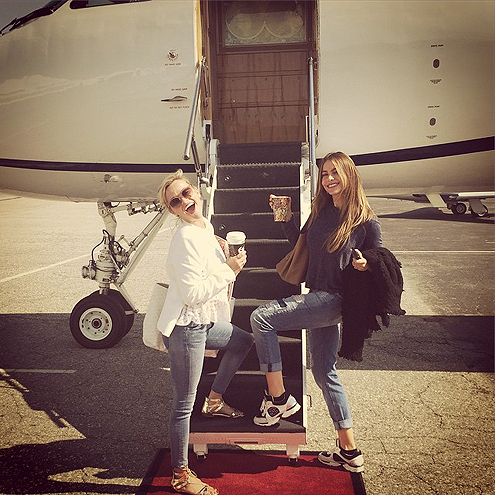 THEY FLEW TO DALLAS ON A PRIVATE JET