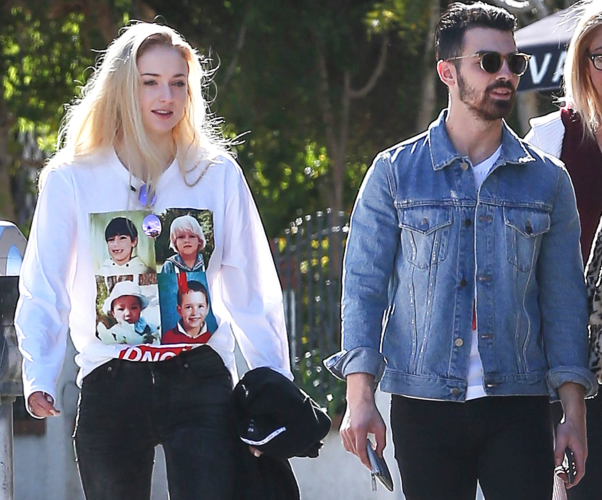 Exclusive... New Couple Joe Jonas & Sophie Tuner Get On A Plane With DNCE In LA