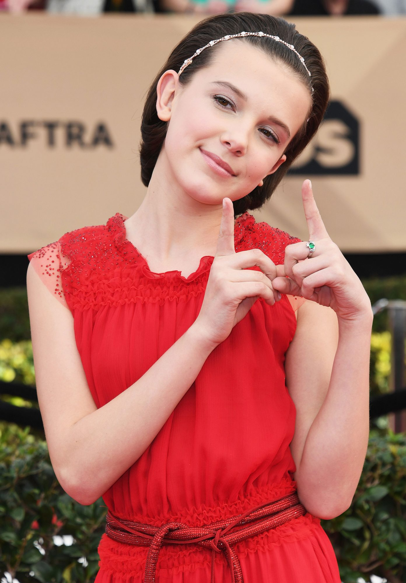 LOS ANGELES, CA - JANUARY 29: Actor Millie Bobby Brown attends the 23rd Annual Screen Actors Guild Awards at The Shrine Expo Hall on January 29, 2017 in Los Angeles, California. (Photo by Alberto E. Rodriguez/Getty Images)