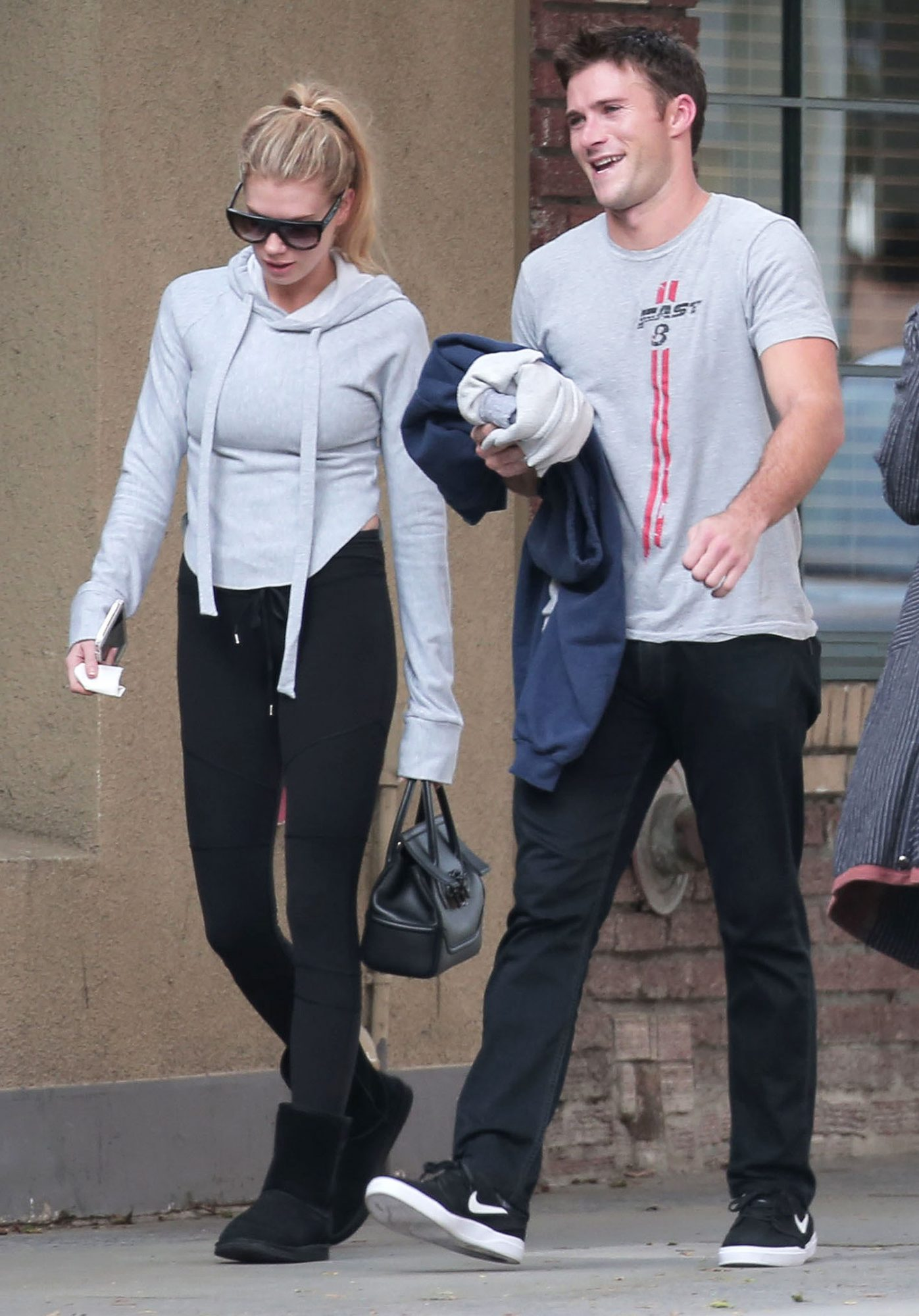 EXCLUSIVE: Just friends? Charlotte McKinney and Scott Eastwood are matching as they are spotted hanging out together the morning after Christmas