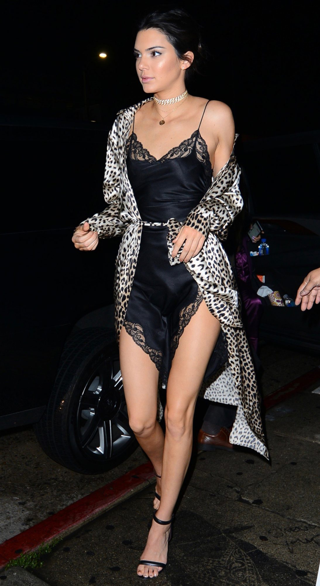 Kendall Jenner shows off her long legs at The Nice Guy